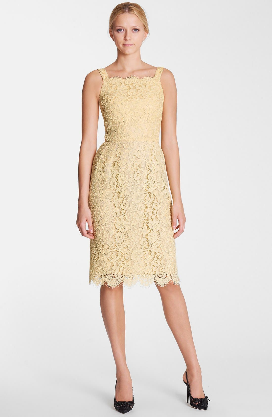 Alternate Image 1 Selected - Dolce&Gabbana Lace Tank Dress