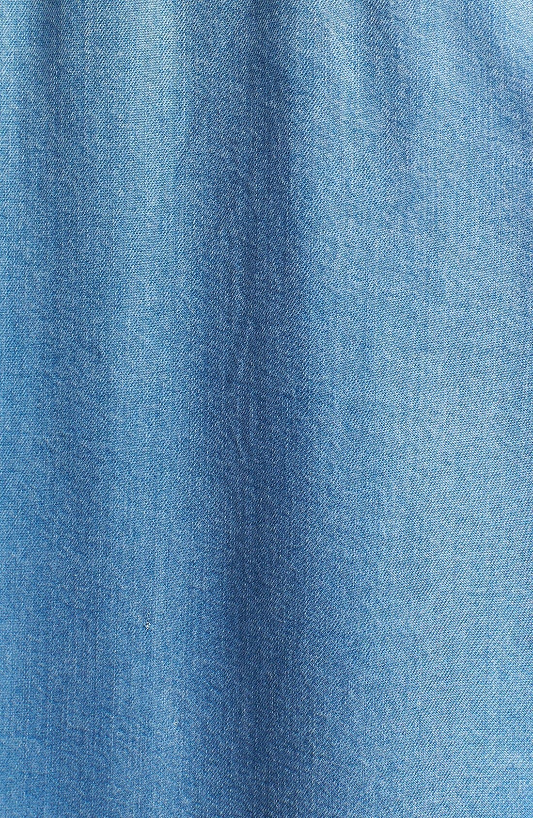 Alternate Image 3  - Sejour Chambray Shirt (Plus Size)