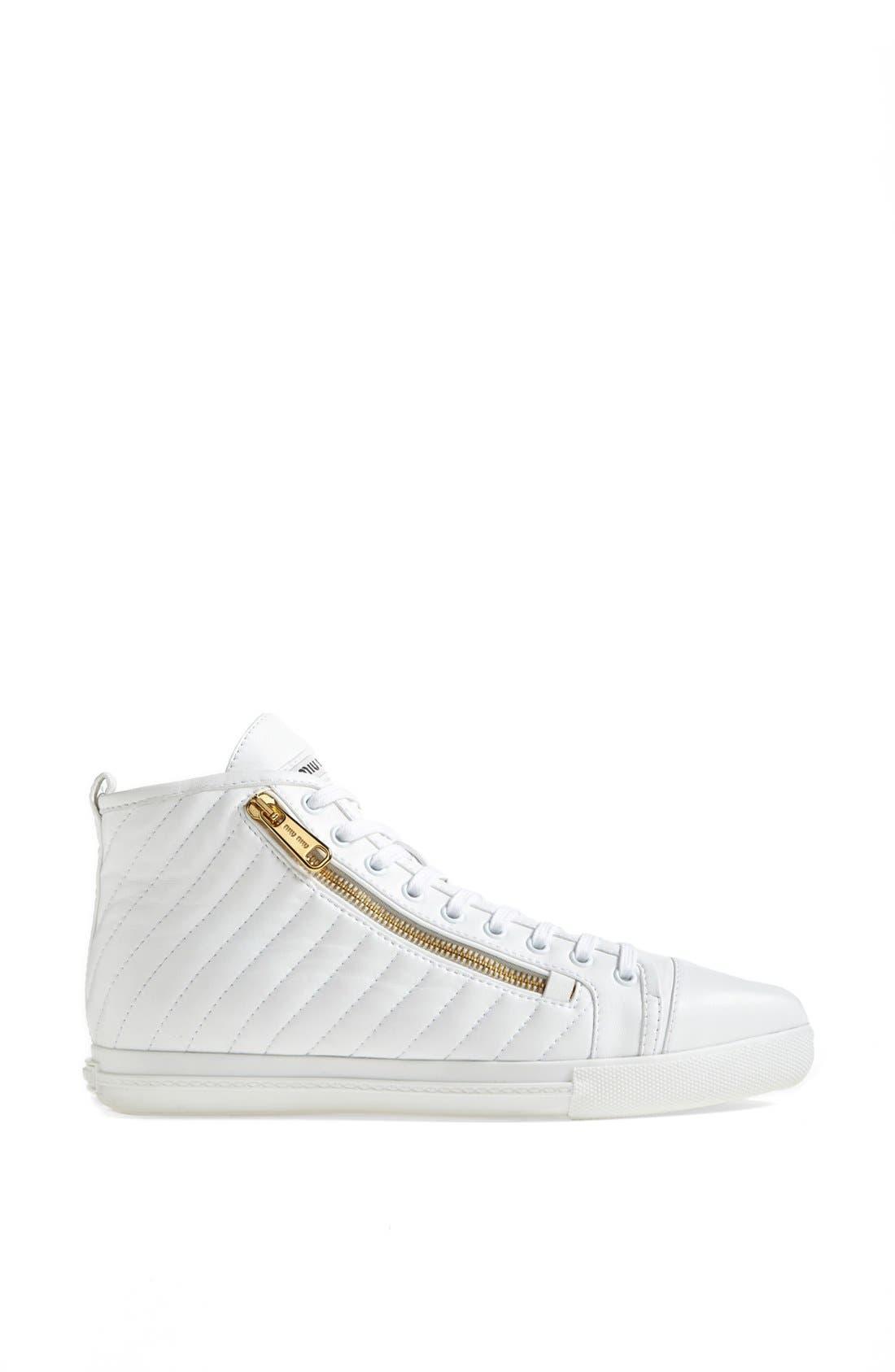 Alternate Image 4  - Miu Miu Side Zip High Top Sneaker