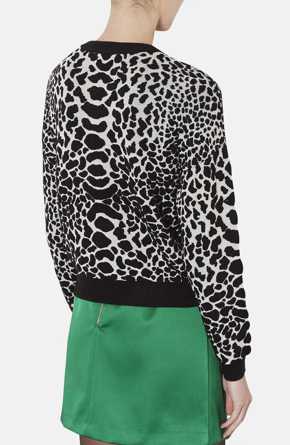 Alternate Image 2  - Topshop Quilted Animal Spot Sweater