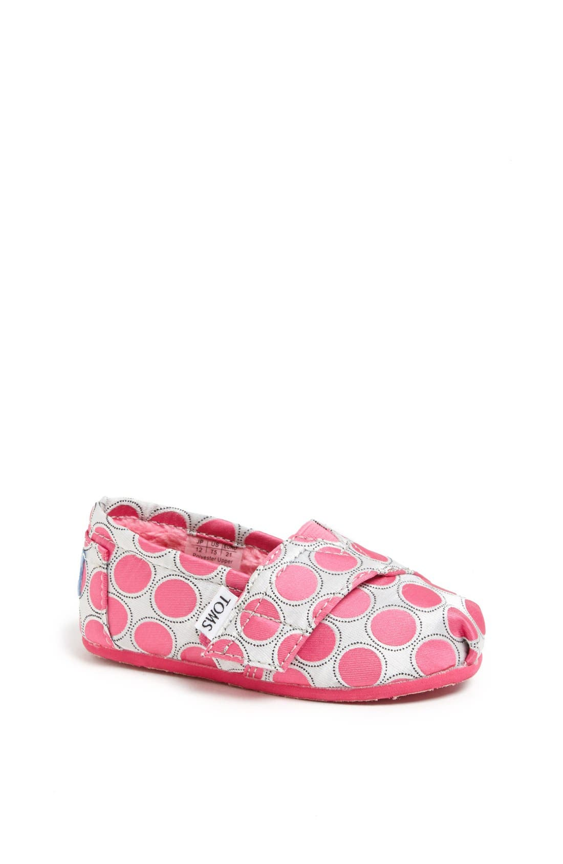 Alternate Image 1 Selected - TOMS 'Classic - Tiny' Polka Dot Slip-On (Baby, Walker & Toddler)