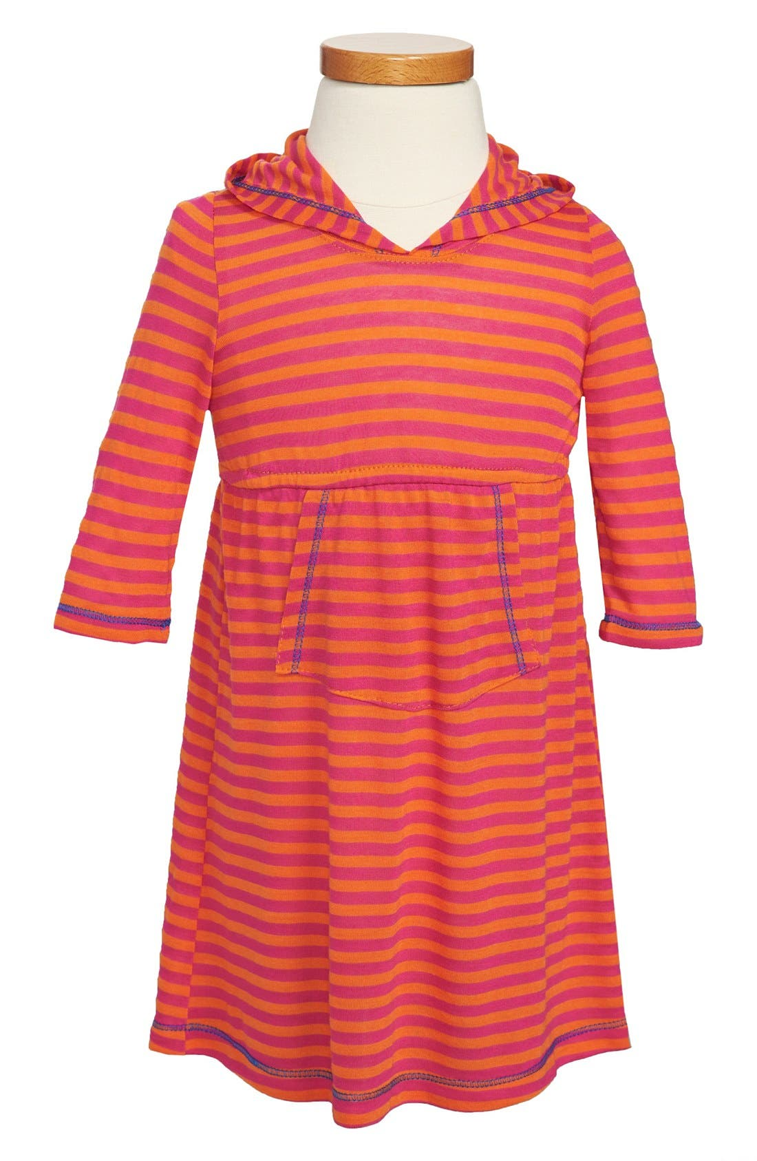 Alternate Image 1 Selected - Pink Vanilla Stripe Dress (Toddler Girls)