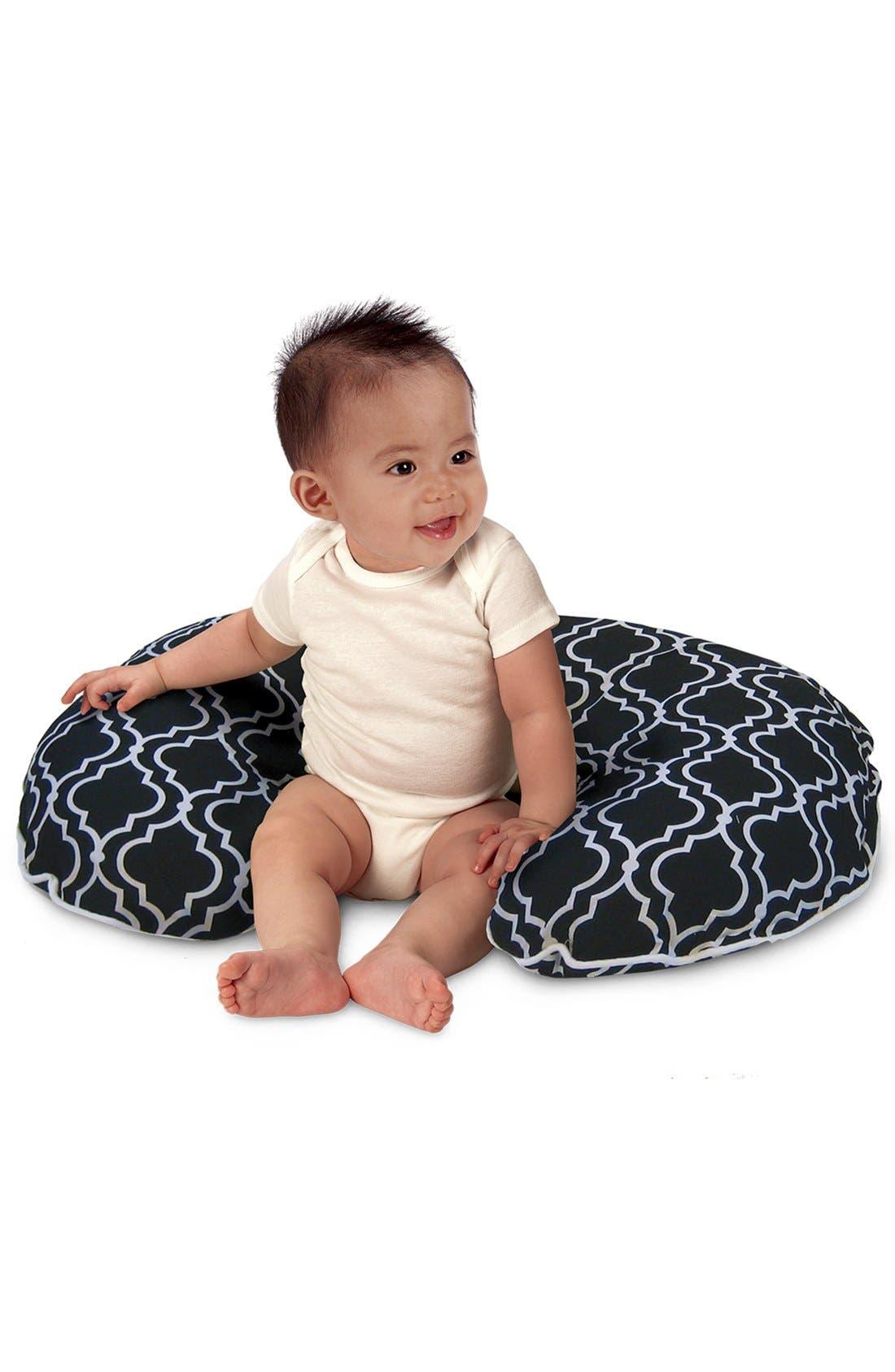 'Seville' Pillow & Slipcover,                         Main,                         color, Black/ White