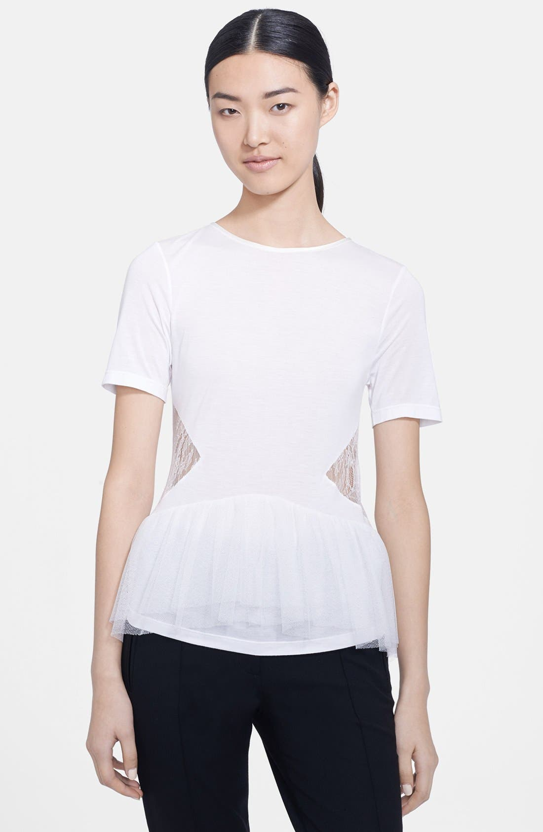 Alternate Image 1 Selected - Jason Wu Lace Inset Peplum Tee