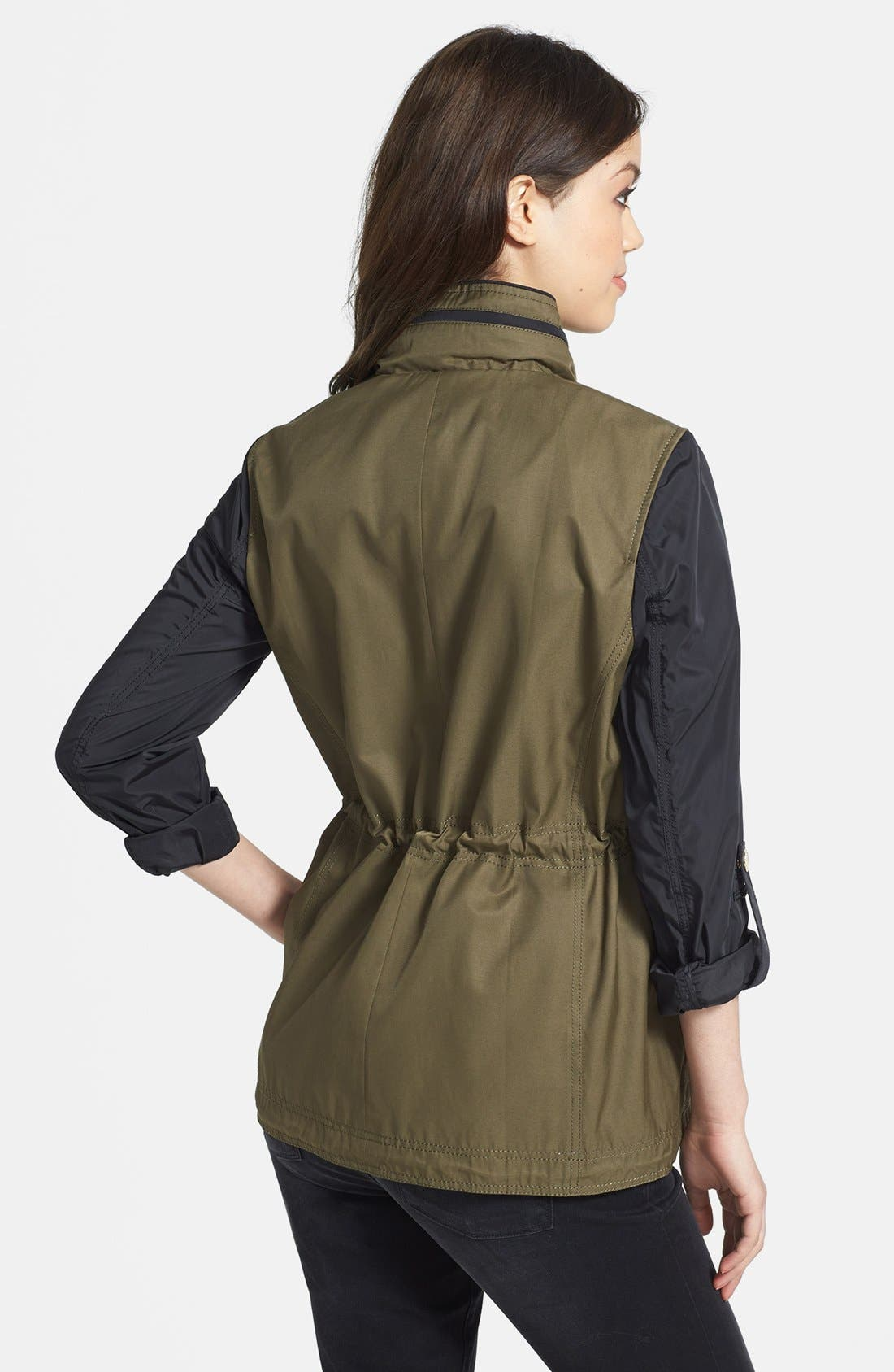 Alternate Image 2  - Vince Camuto Two-Tone Anorak