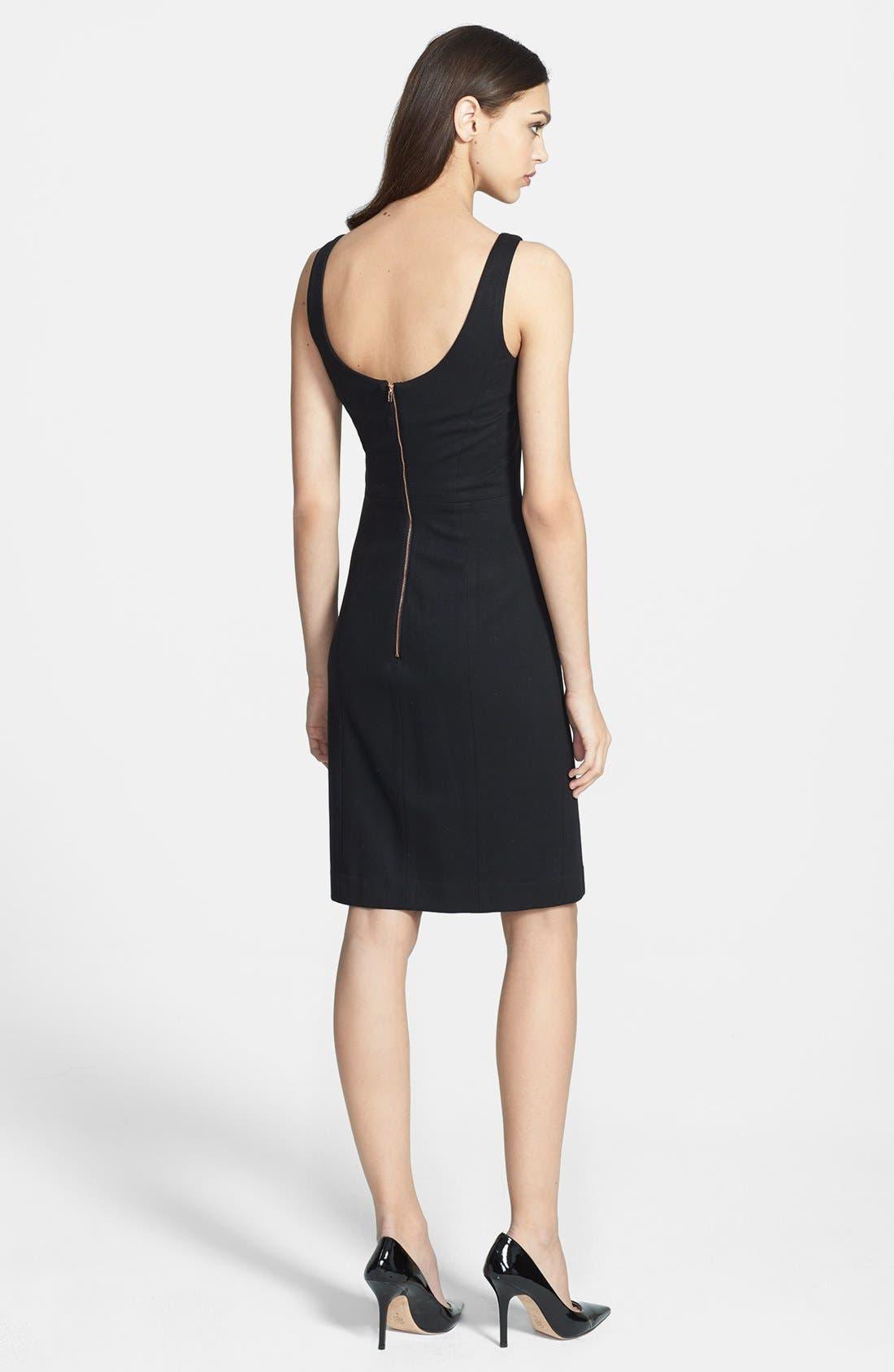 Alternate Image 2  - Milly 'Tucked' Jersey Sheath Dress