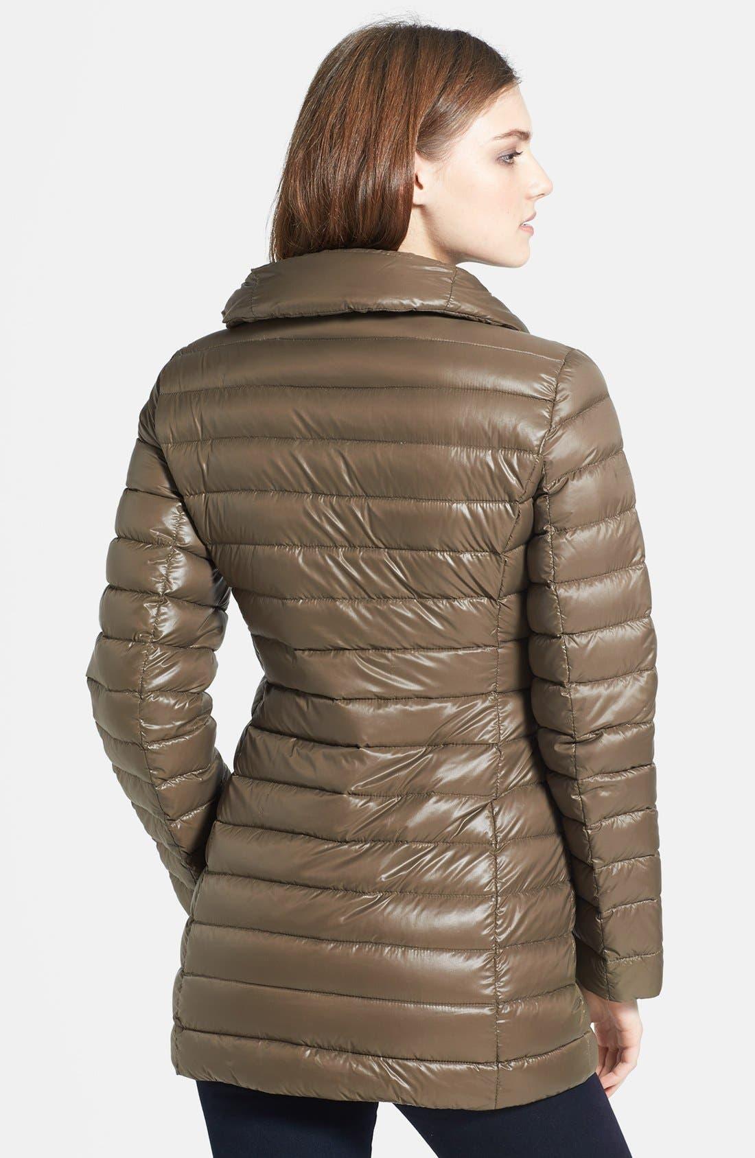 Alternate Image 2  - Calvin Klein Lightweight Asymmetric Down Jacket (Online Only)