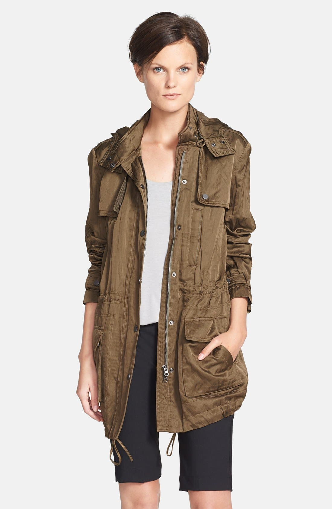 'Luxe' Anorak Jacket,                             Main thumbnail 1, color,                             Green