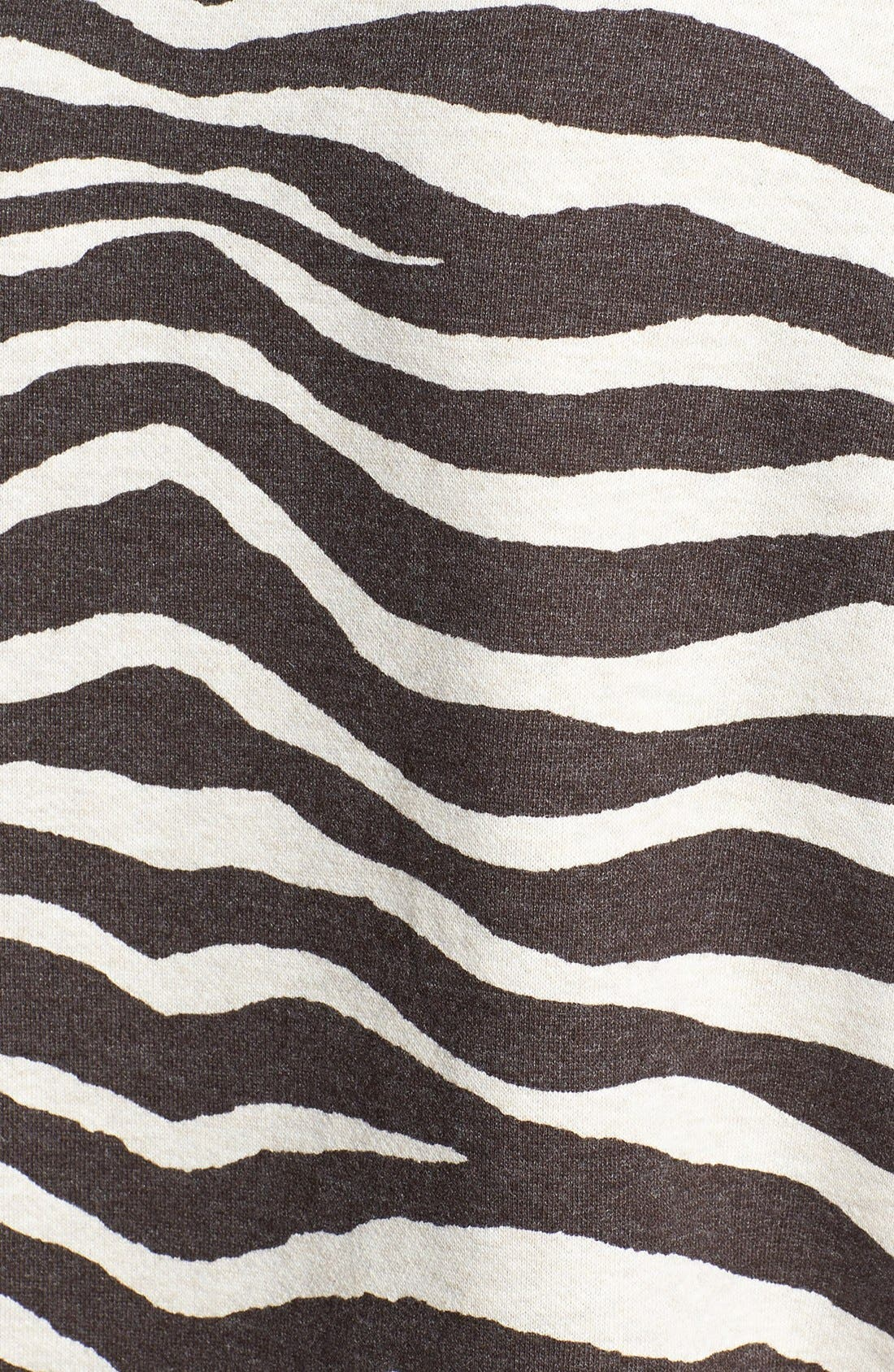 Alternate Image 3  - MICHAEL Michael Kors Zebra Print Terry Crop Top