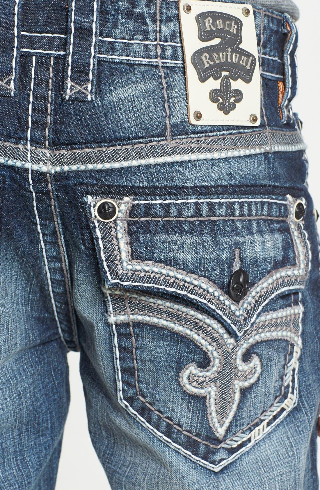 Alternate Image 4  - Rock Revival 'Humfrey' Straight Leg Jeans (Medium Blue)