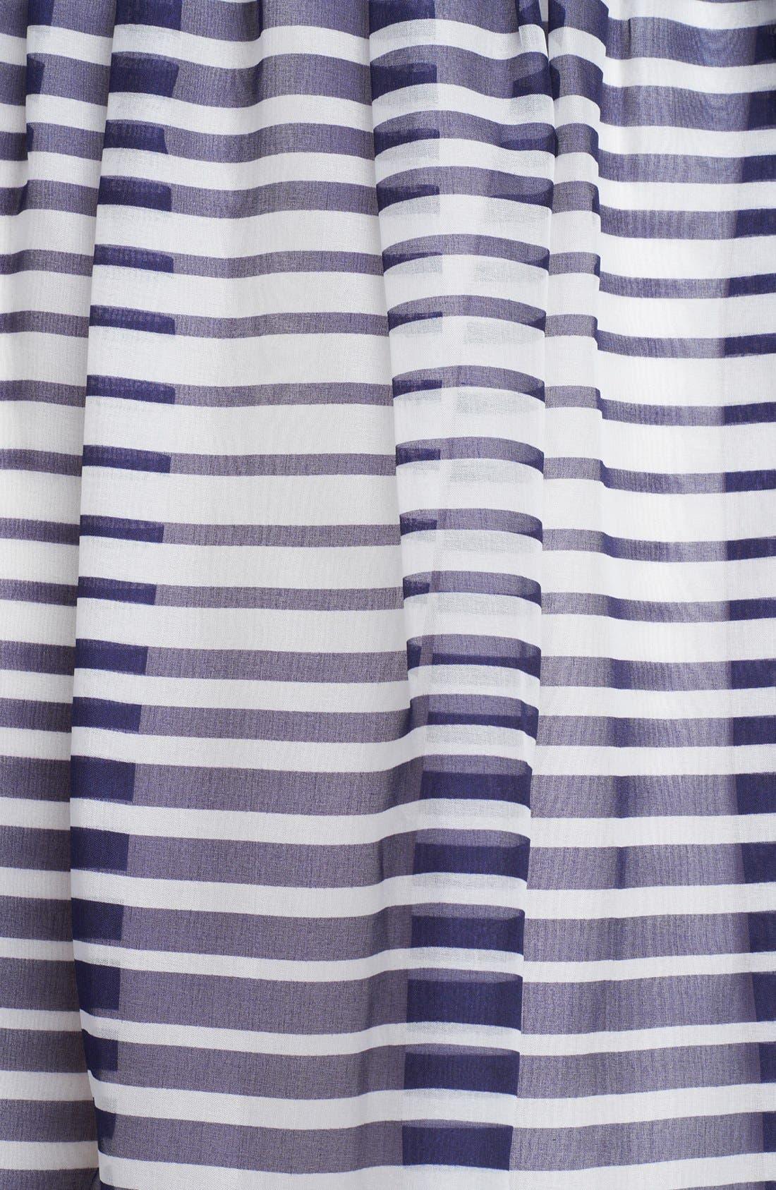 Alternate Image 3  - Armani Collezioni Stripe Silk Organza Maxi Skirt