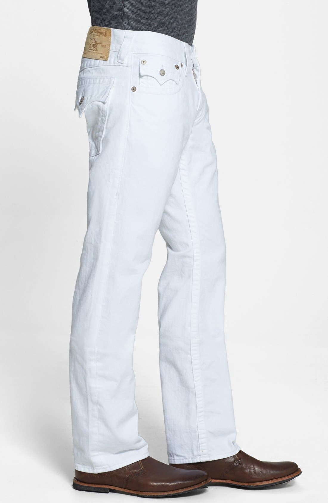 Alternate Image 3  - True Religion Brand Jeans 'Ricky' Relaxed Fit Jeans (Optic White)