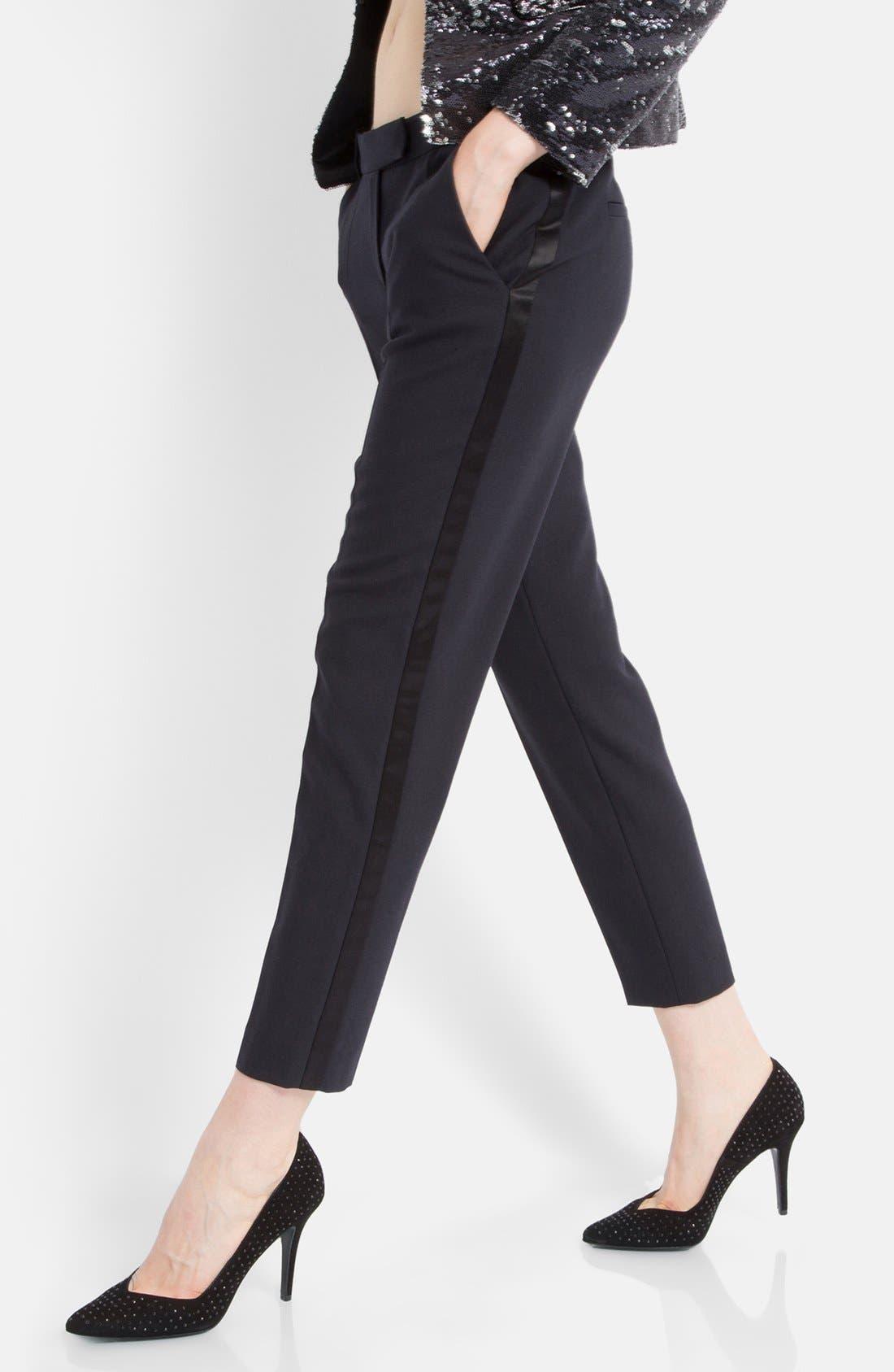 Main Image - maje 'Erika' Tuxedo Stripe Pants