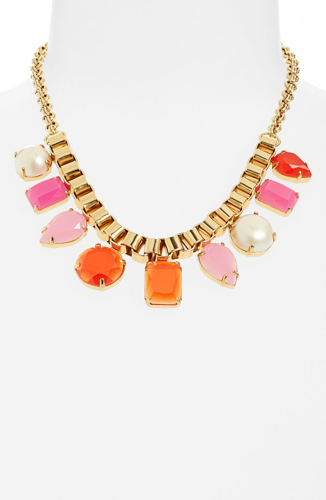 Alternate Image 1 Selected - kate spade new york 'boardwalk stroll' multi-stone frontal necklace