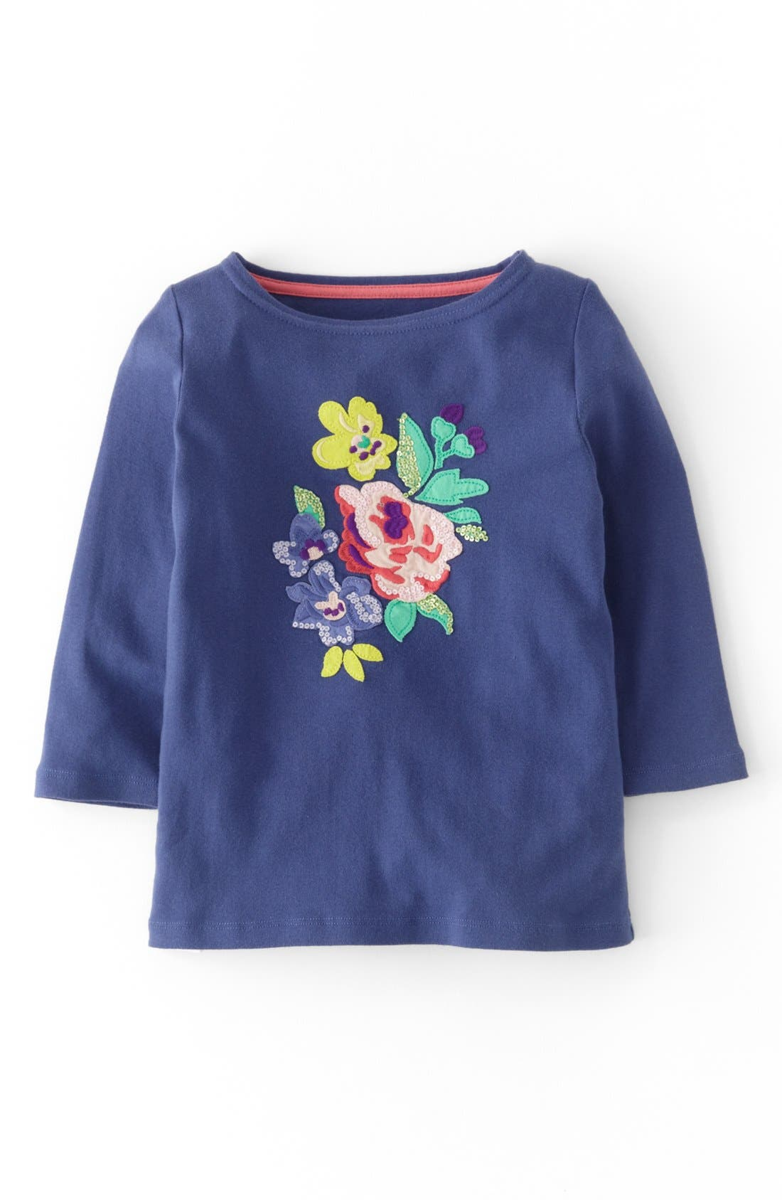 Alternate Image 1 Selected - Mini Boden 'Twinkly' Long Sleeve Tee (Toddler Girls, Little Girls & Big Girls)
