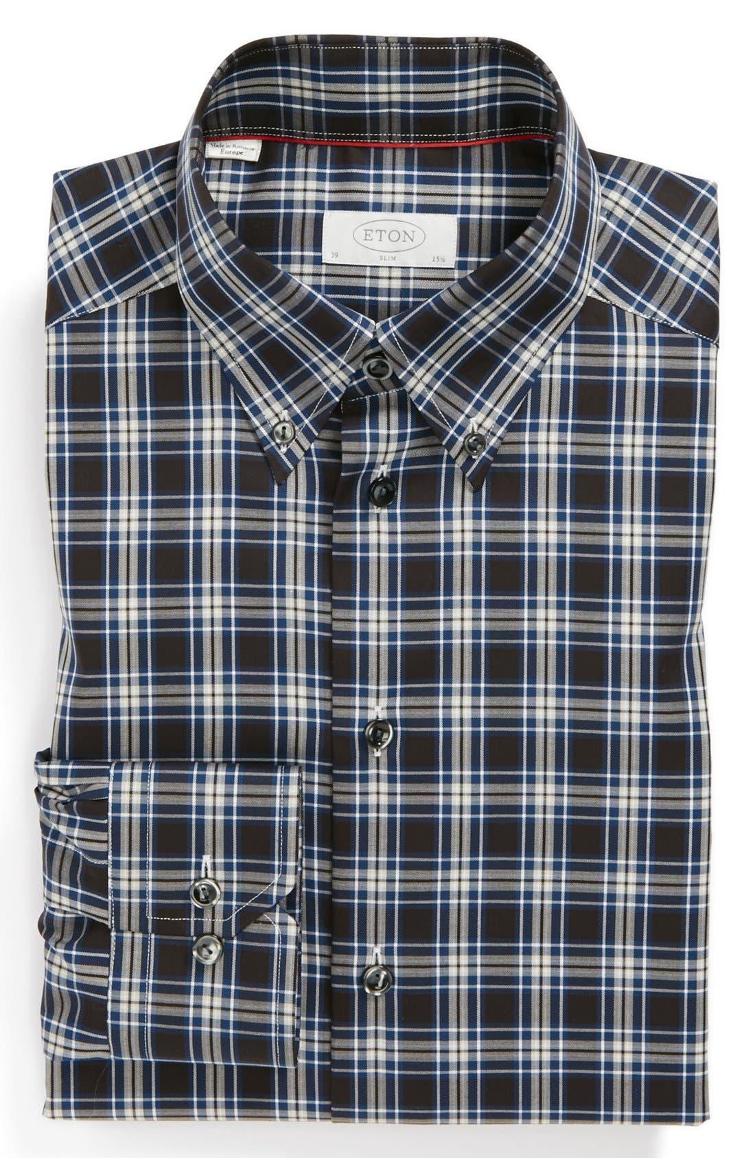 Alternate Image 1 Selected - Eton Slim Fit Non-Iron Dress Shirt