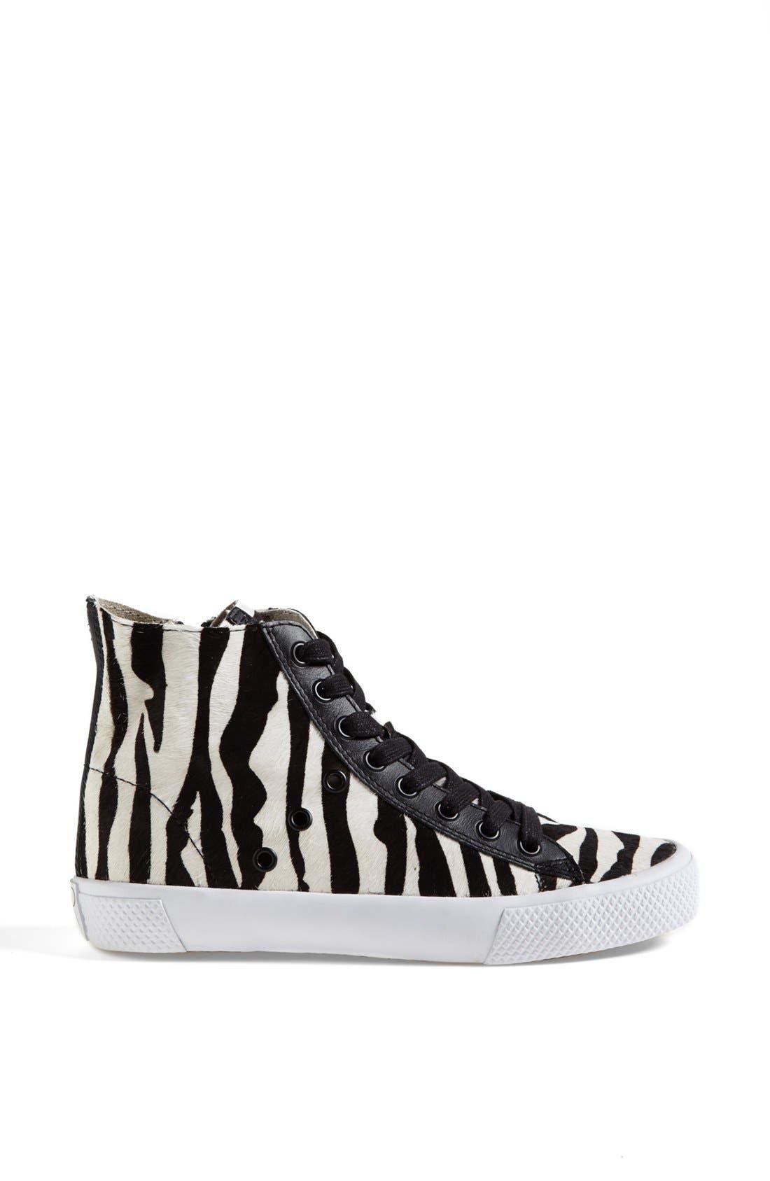 Alternate Image 4  - Rachel Zoe 'Barret' Zebra Print Calf Hair Sneaker (Online Only)