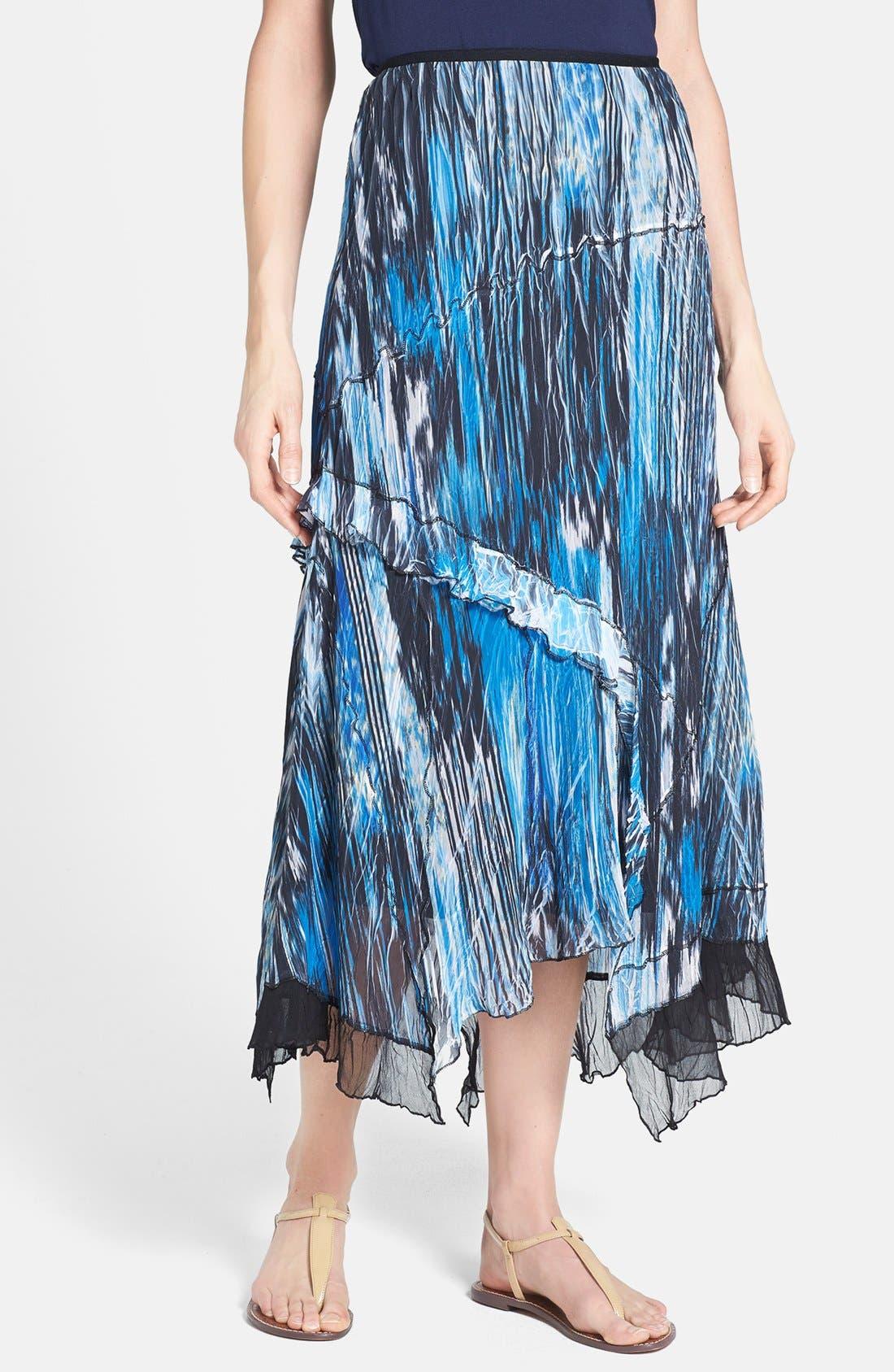 Main Image - Komarov Print Handkerchief Hem Skirt