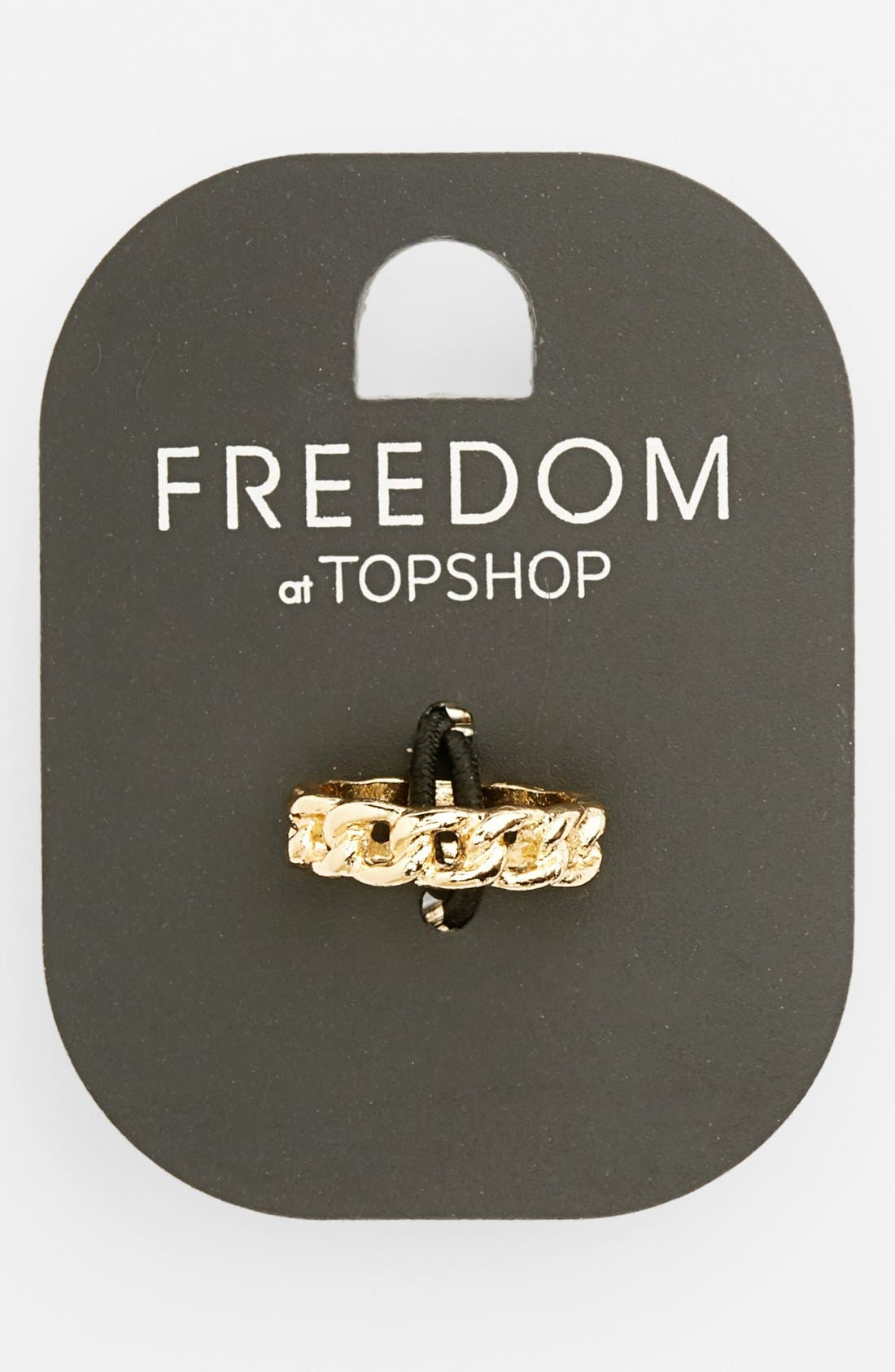 Alternate Image 1 Selected - Topshop Chain Midi Ring