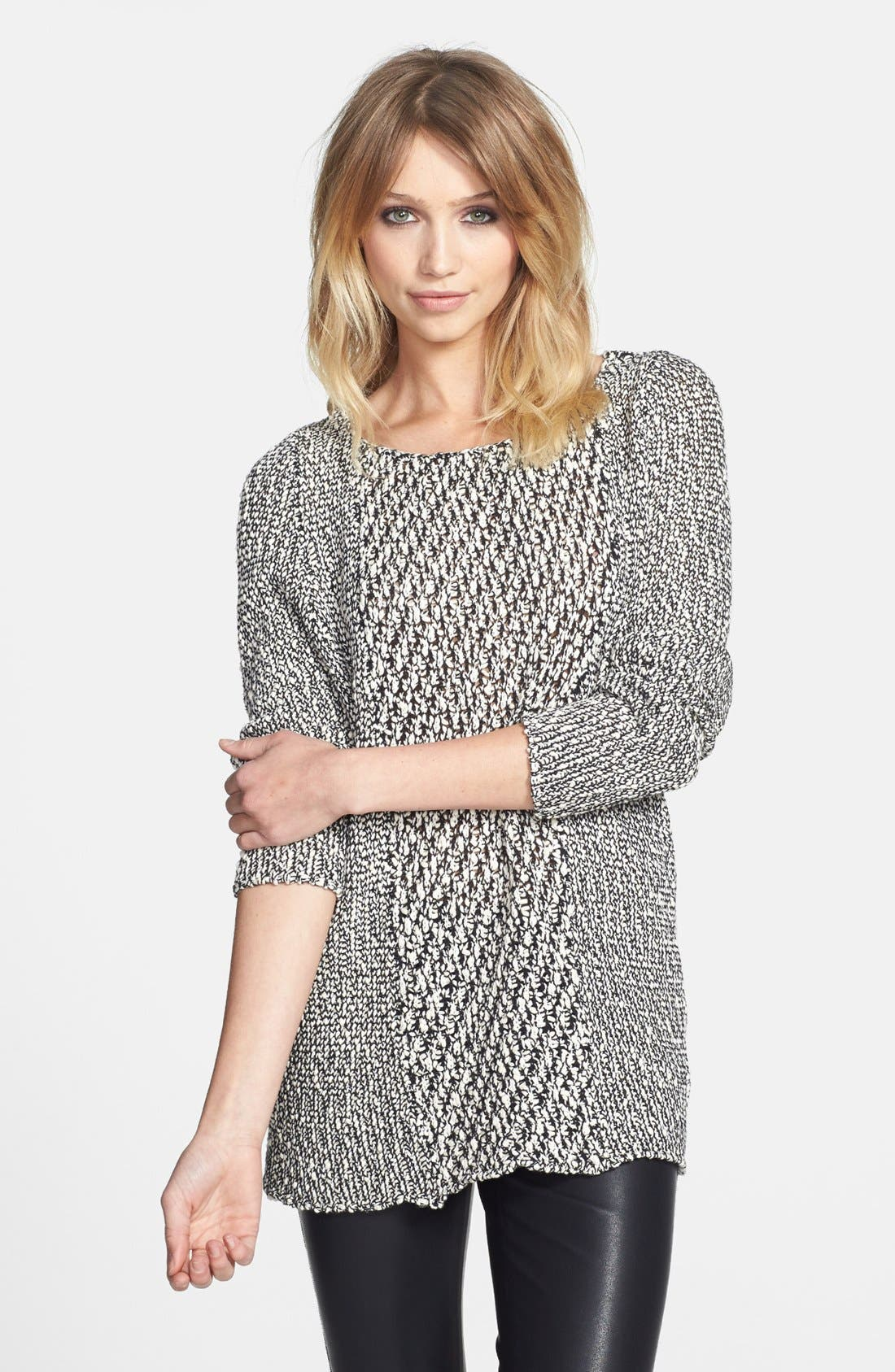 Main Image - Knot Sisters 'Dre' Mixed Knit Tunic Sweater