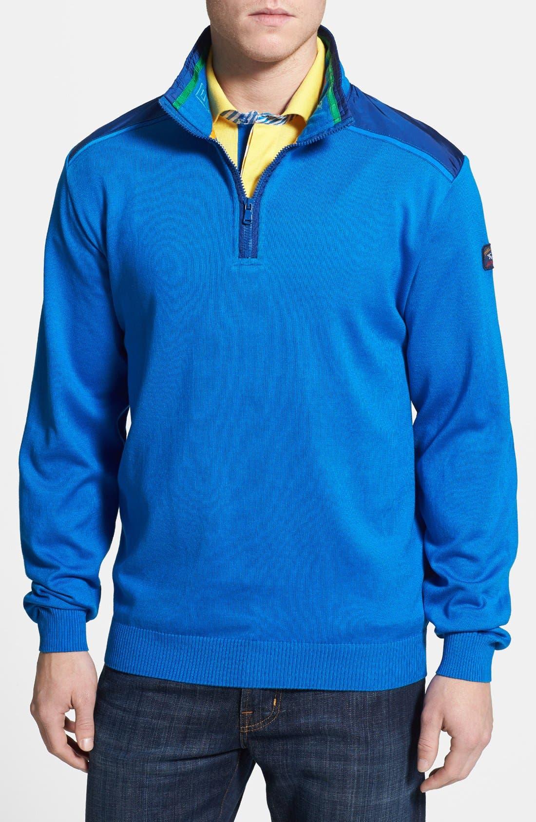 Alternate Image 1 Selected - Paul & Shark Classic Fit Quarter Zip Sweater