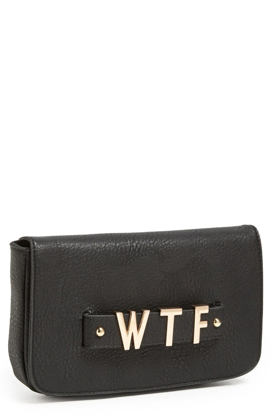 Alternate Image 1 Selected - Street Level Faux Leather Clutch