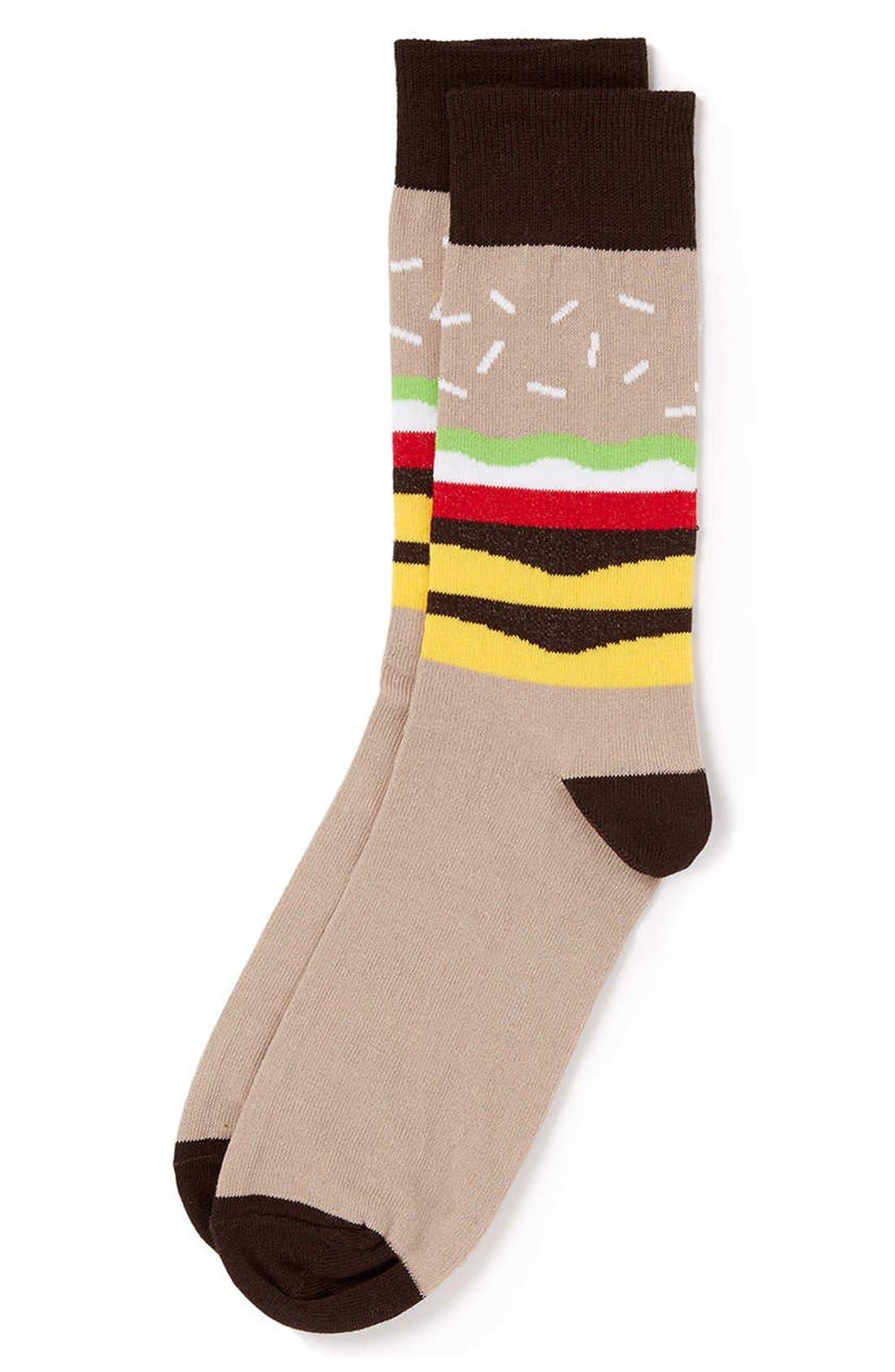Alternate Image 1 Selected - Topman Burger Pattern Socks