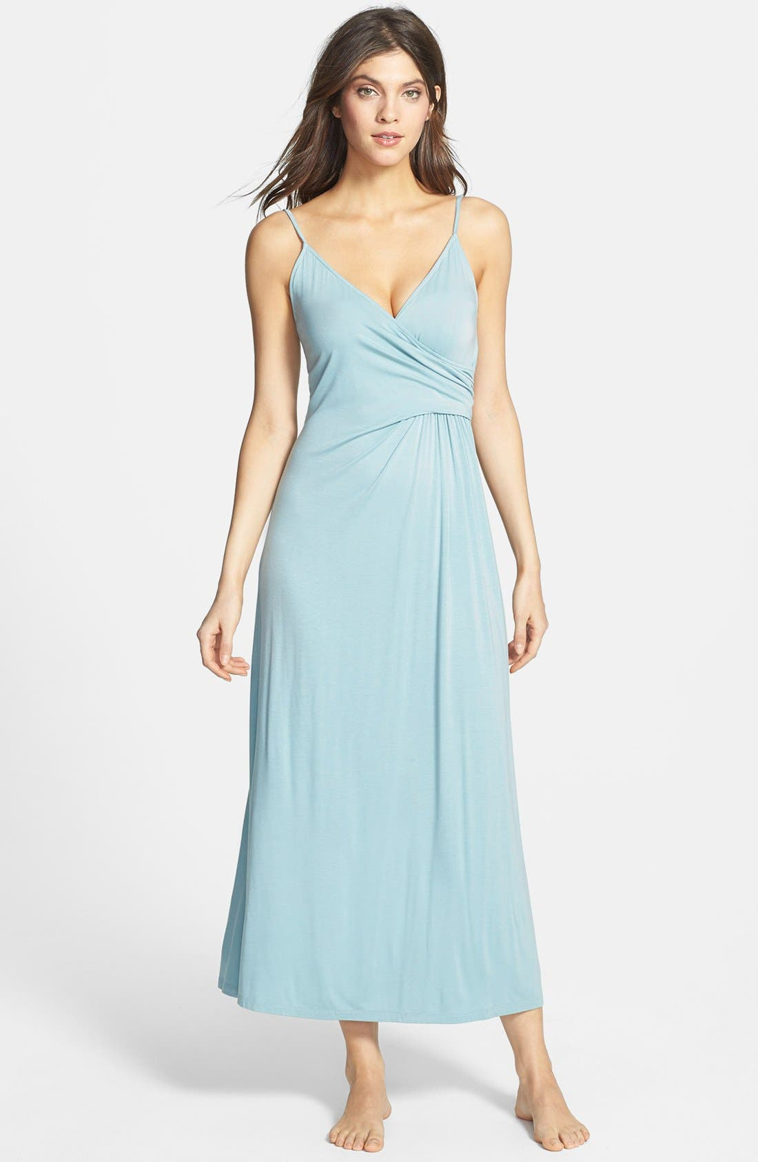 Main Image - Donna Karan Liquid Jersey Long Nightgown