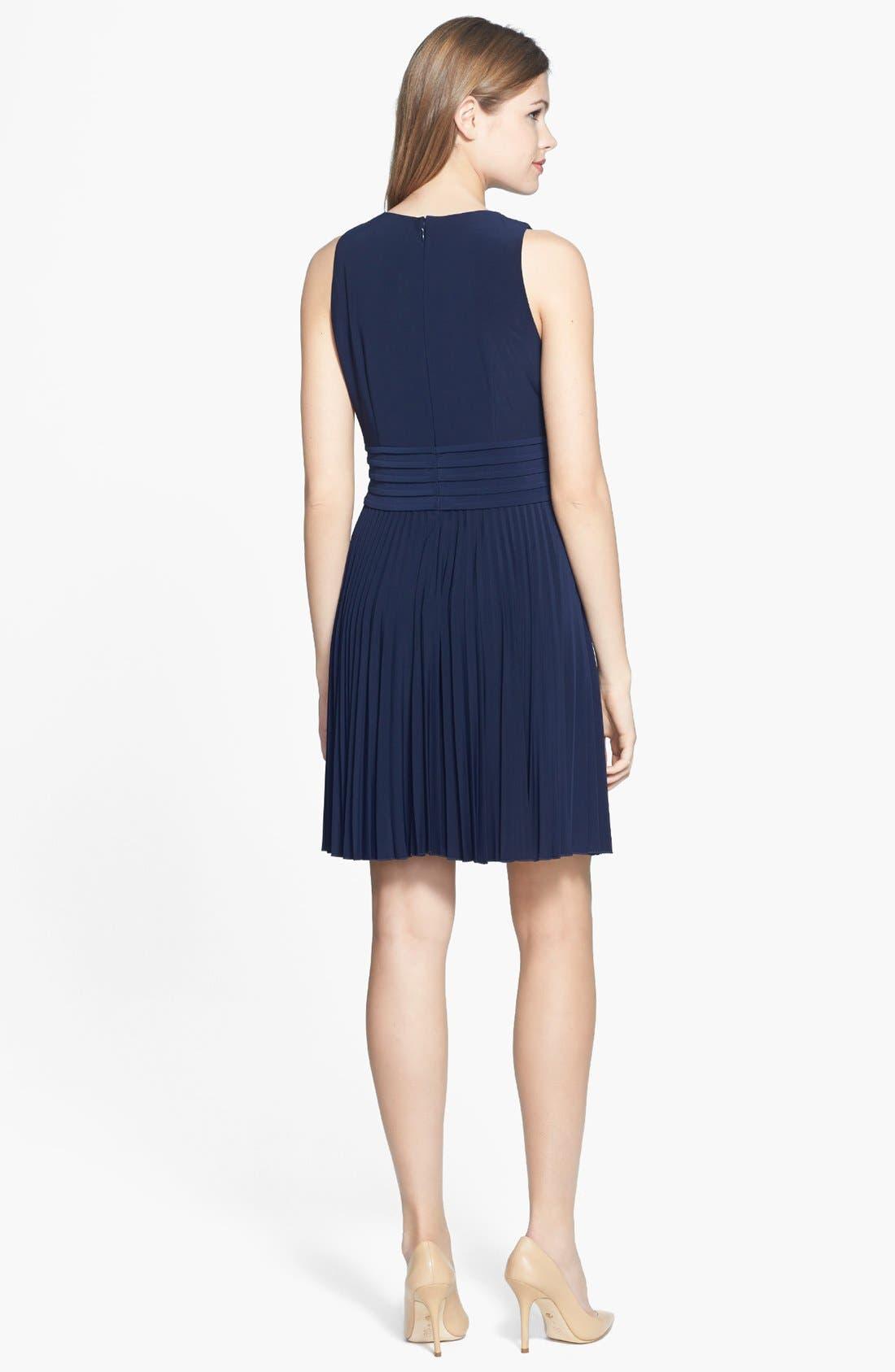 Alternate Image 2  - Eliza J Pleated Stretch Woven Dress