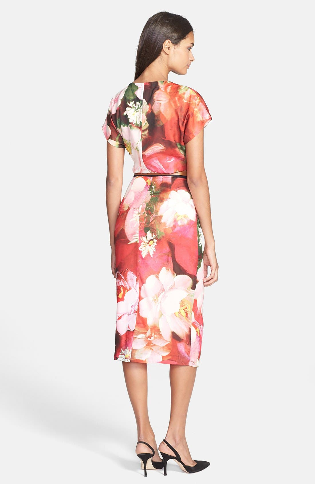 Alternate Image 2  - Ted Baker London 'Rose on Canvas' Print Midi Dress