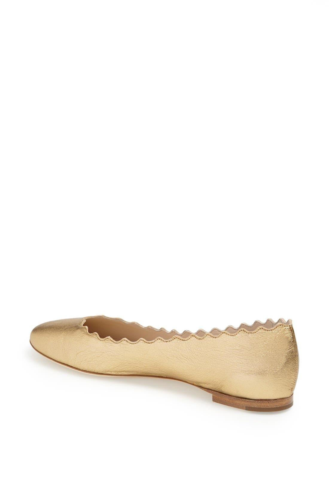 Alternate Image 2  - Chloé 'Lauren' Scalloped Ballet Flat (Women)