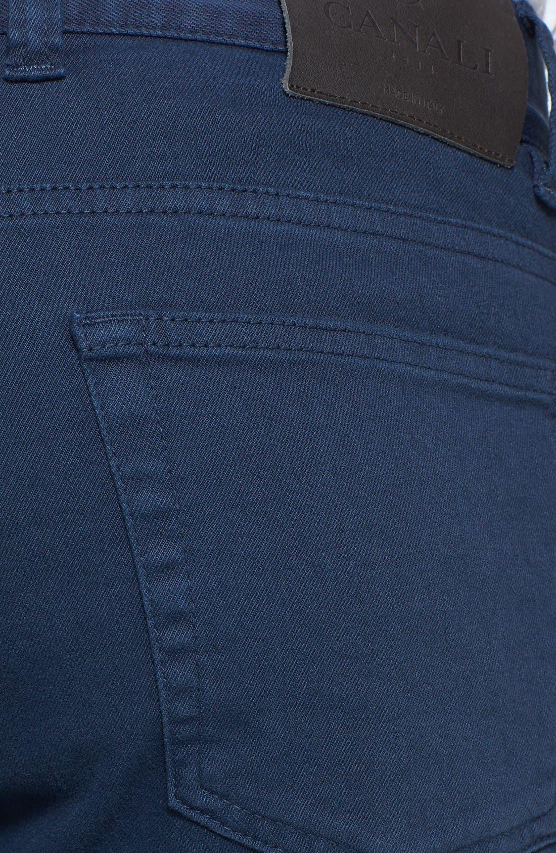 Alternate Image 3  - Canali Stretch Cotton Pants