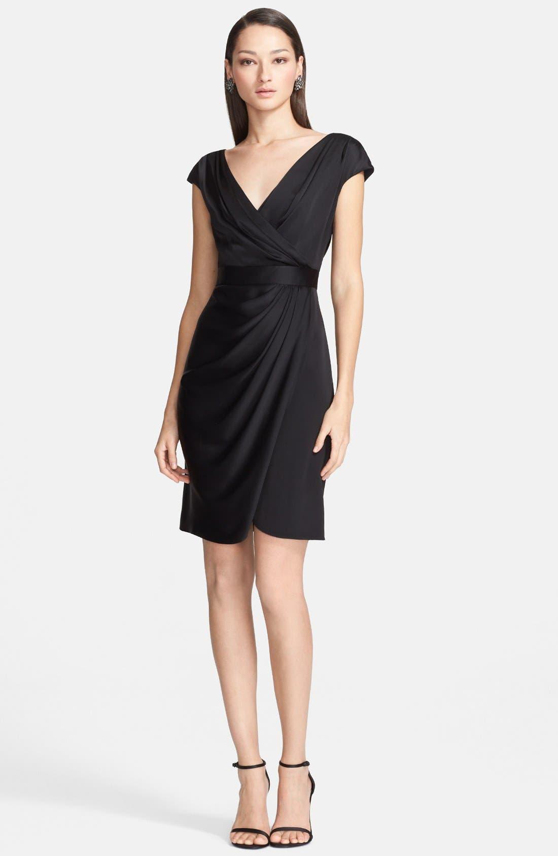 Main Image - St. John Collection Draped Faux Wrap Crepe Dress