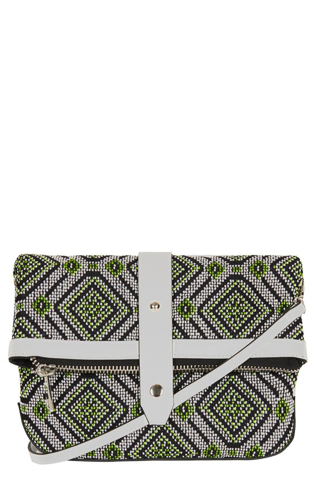 Alternate Image 1 Selected - Topshop Tapestry Crossbody Bag