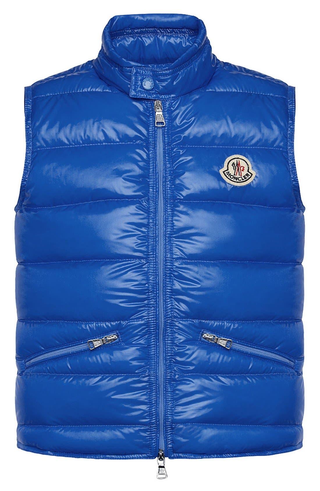 Alternate Image 1 Selected - Moncler Quilted Vest (Toddler Boys, Little Boys & Big Boys)