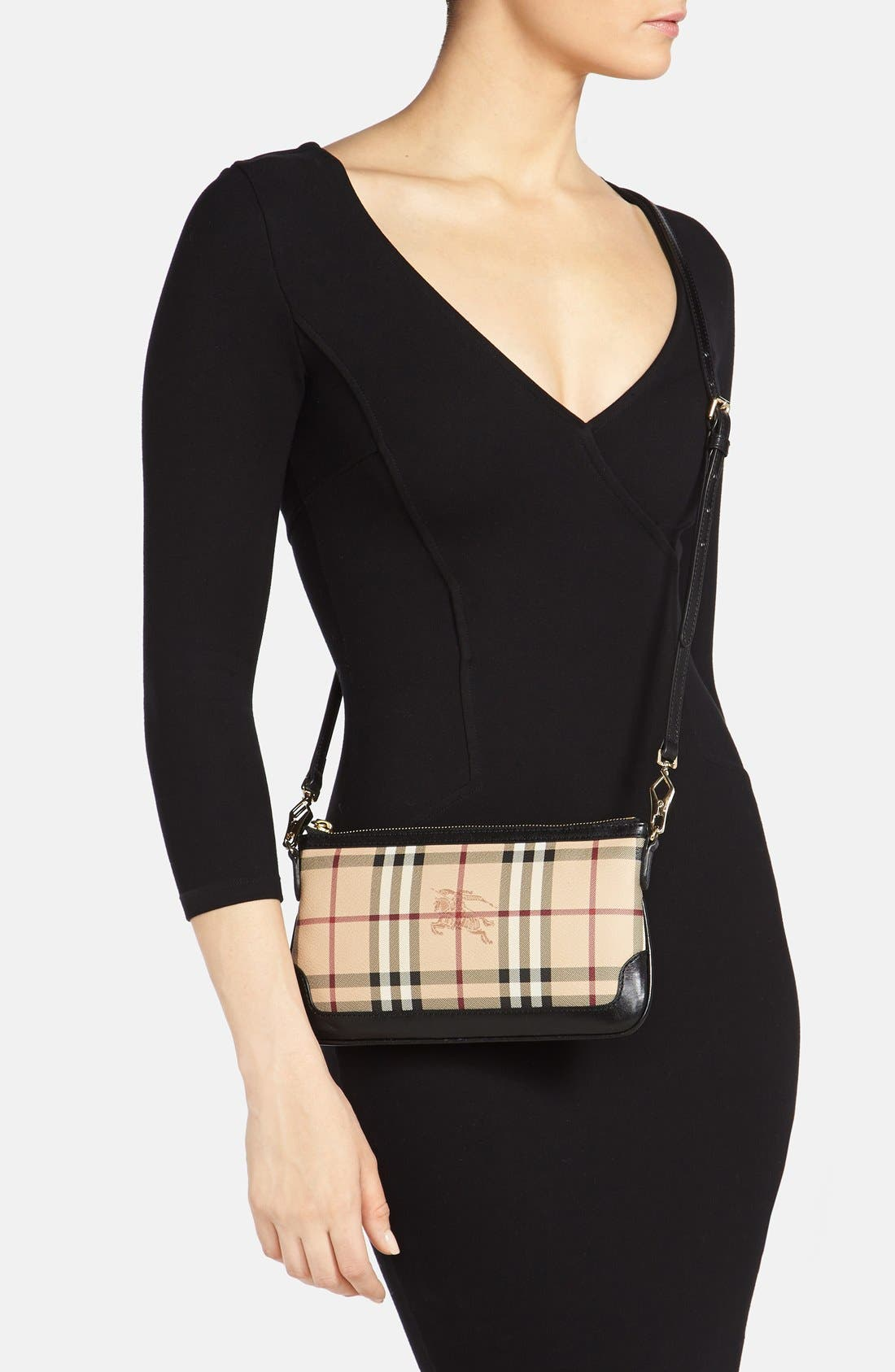 Alternate Image 2  - Burberry 'Peyton - Haymarket Check' Crossbody Bag