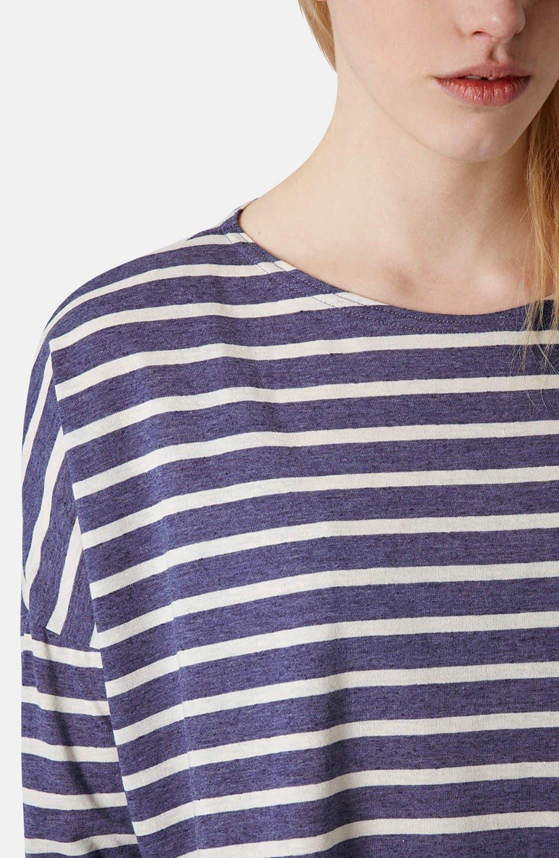 Alternate Image 4  - Topshop Stripe Tee (Petite)