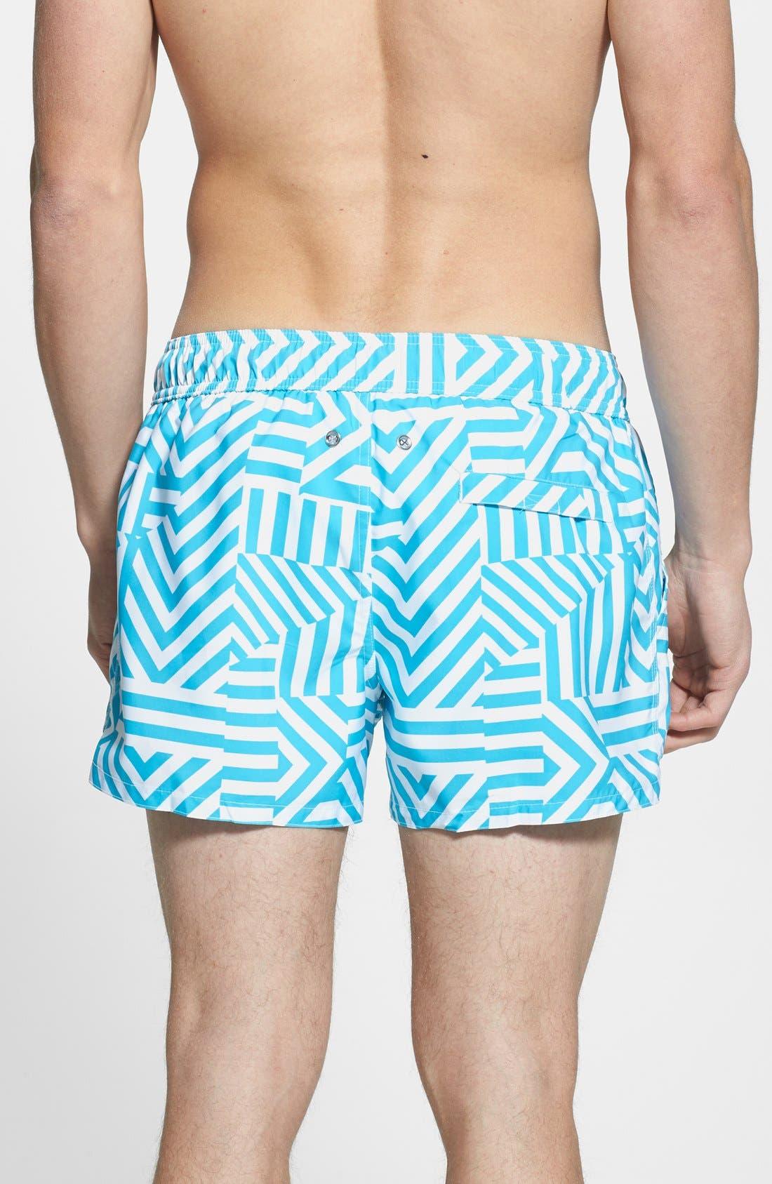 Alternate Image 2  - 2(x)ist 'Ibiza' Block Stripe Swim Trunks