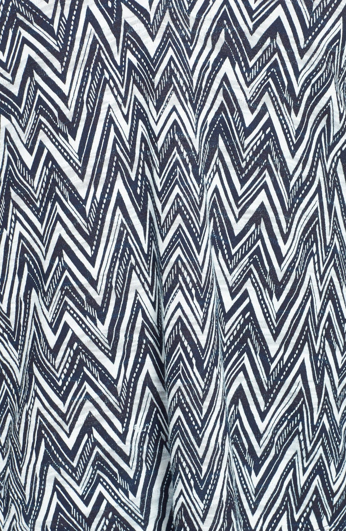 Alternate Image 3  - Lucky Brand Chevron Print Top (Plus Size)