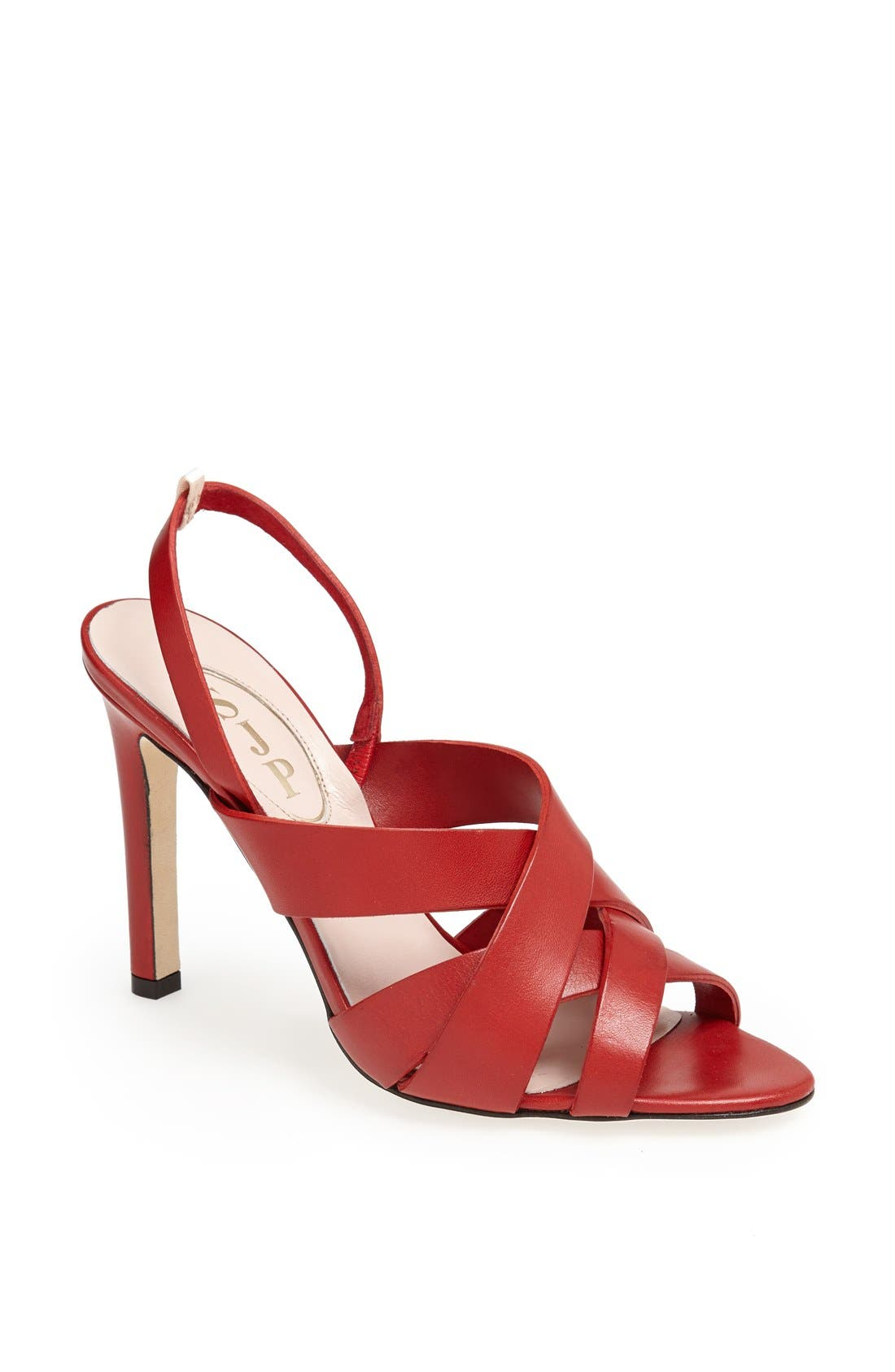 SJP 'Stella' Sandal,                         Main,                         color, Red