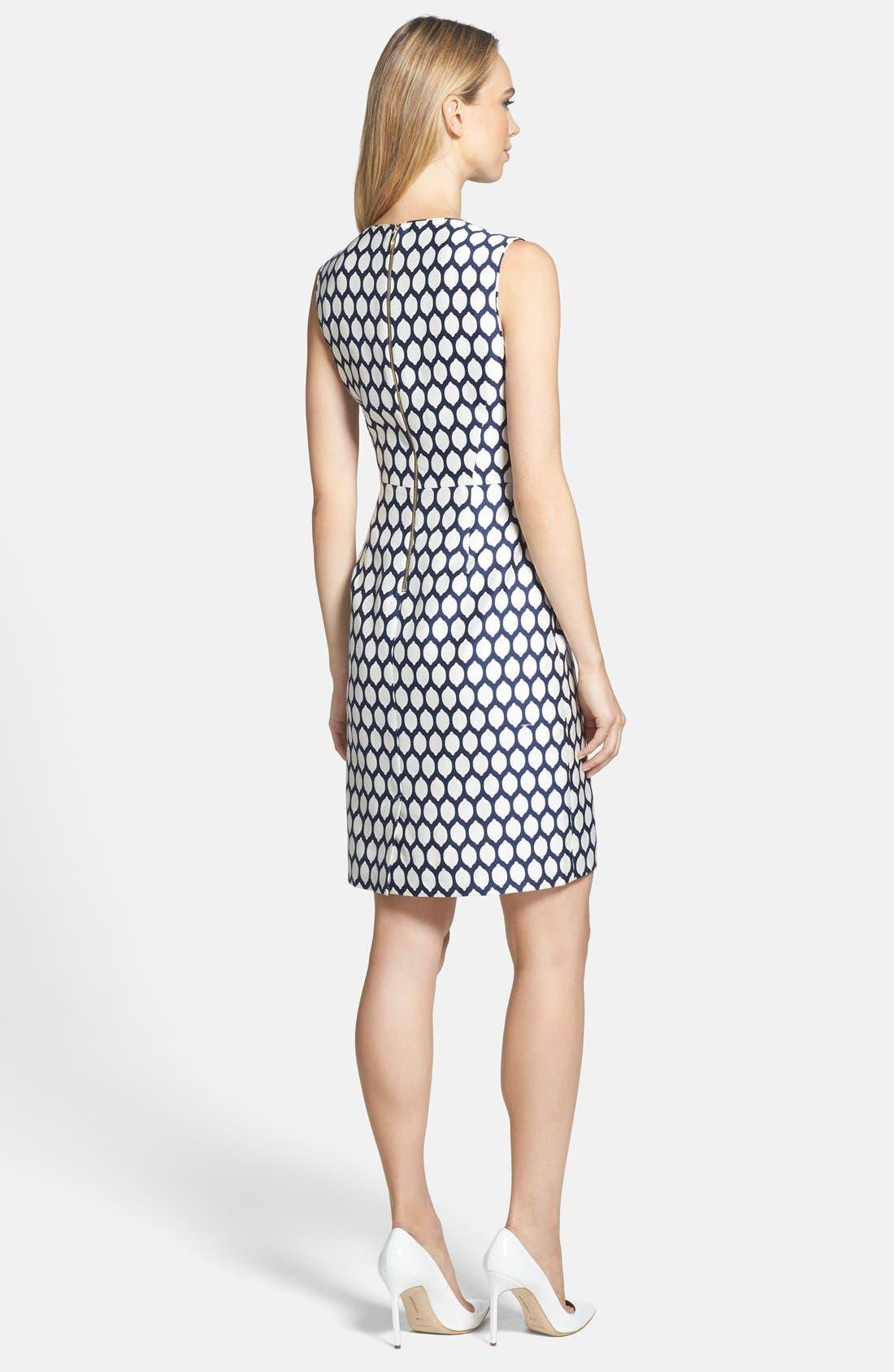 Alternate Image 2  - kate spade new york 'emrick' print cotton blend sheath dress