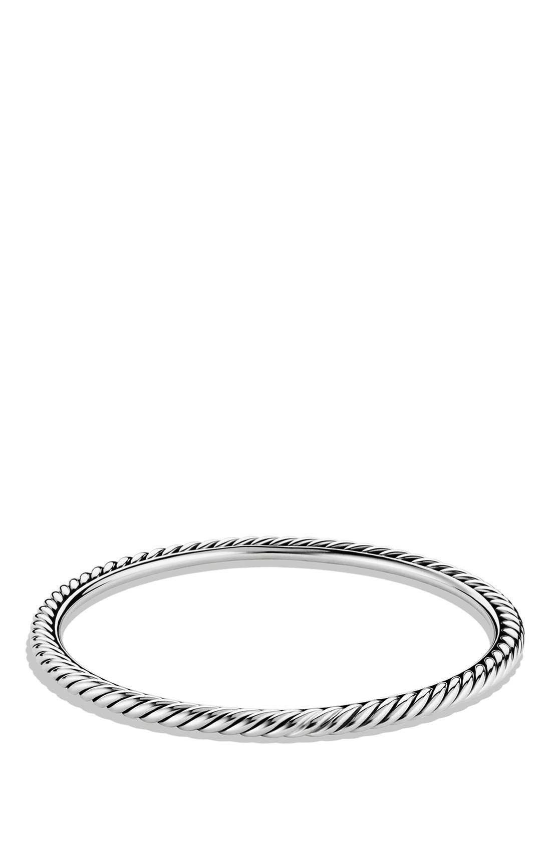Cable Classics Bangle, 4mm,                         Main,                         color, Silver