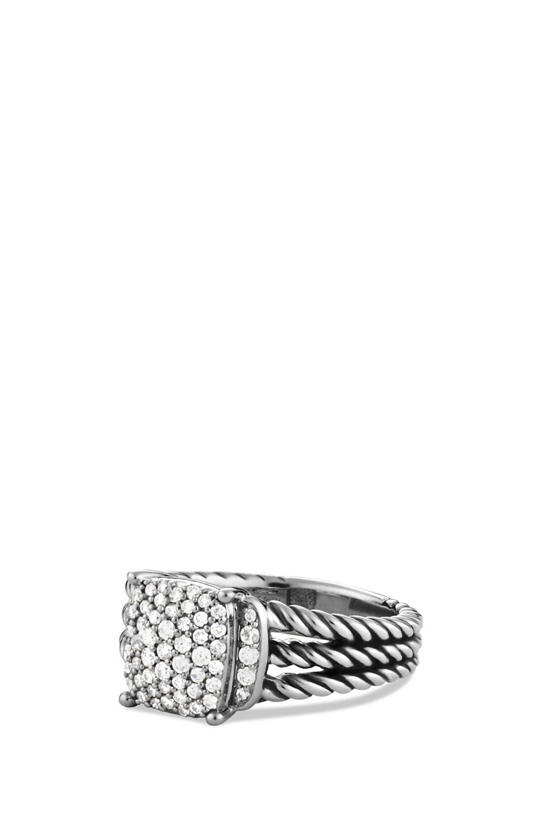 'Wheaton' Petite Ring with Diamonds,                             Main thumbnail 1, color,                             Diamond