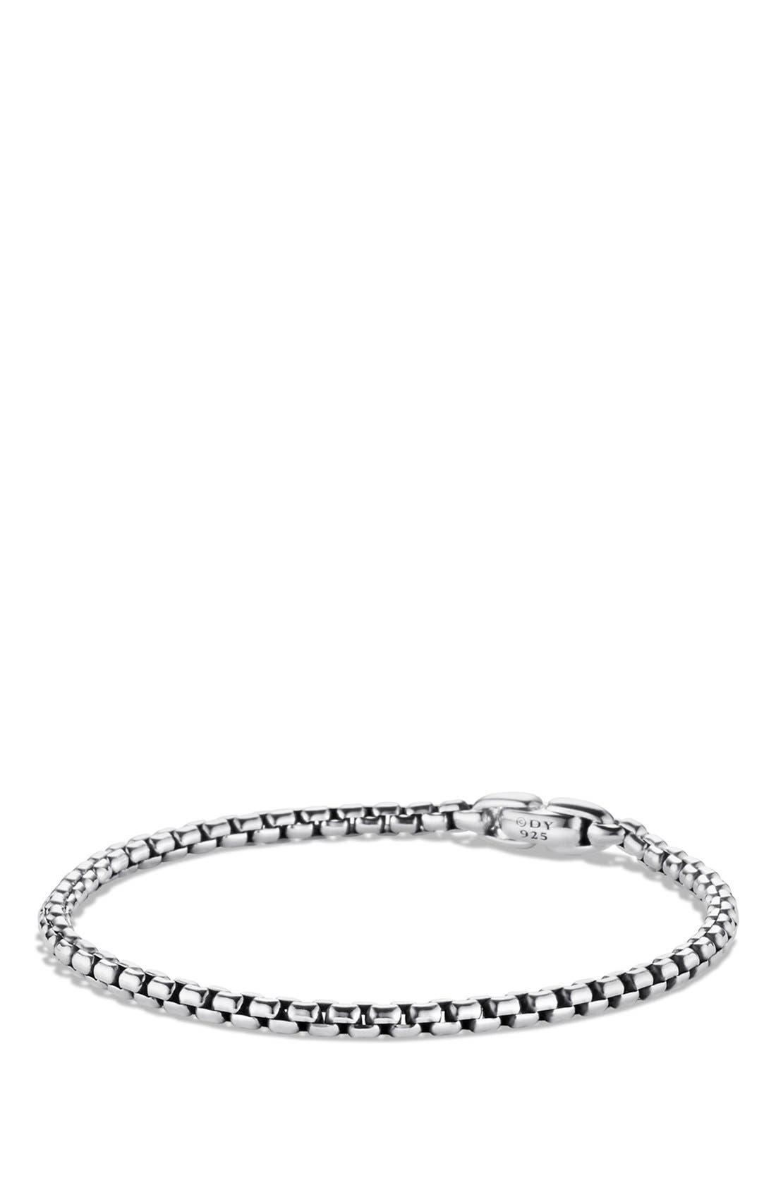 'Chain' Medium Box Chain Bracelet,                             Main thumbnail 1, color,                             Silver