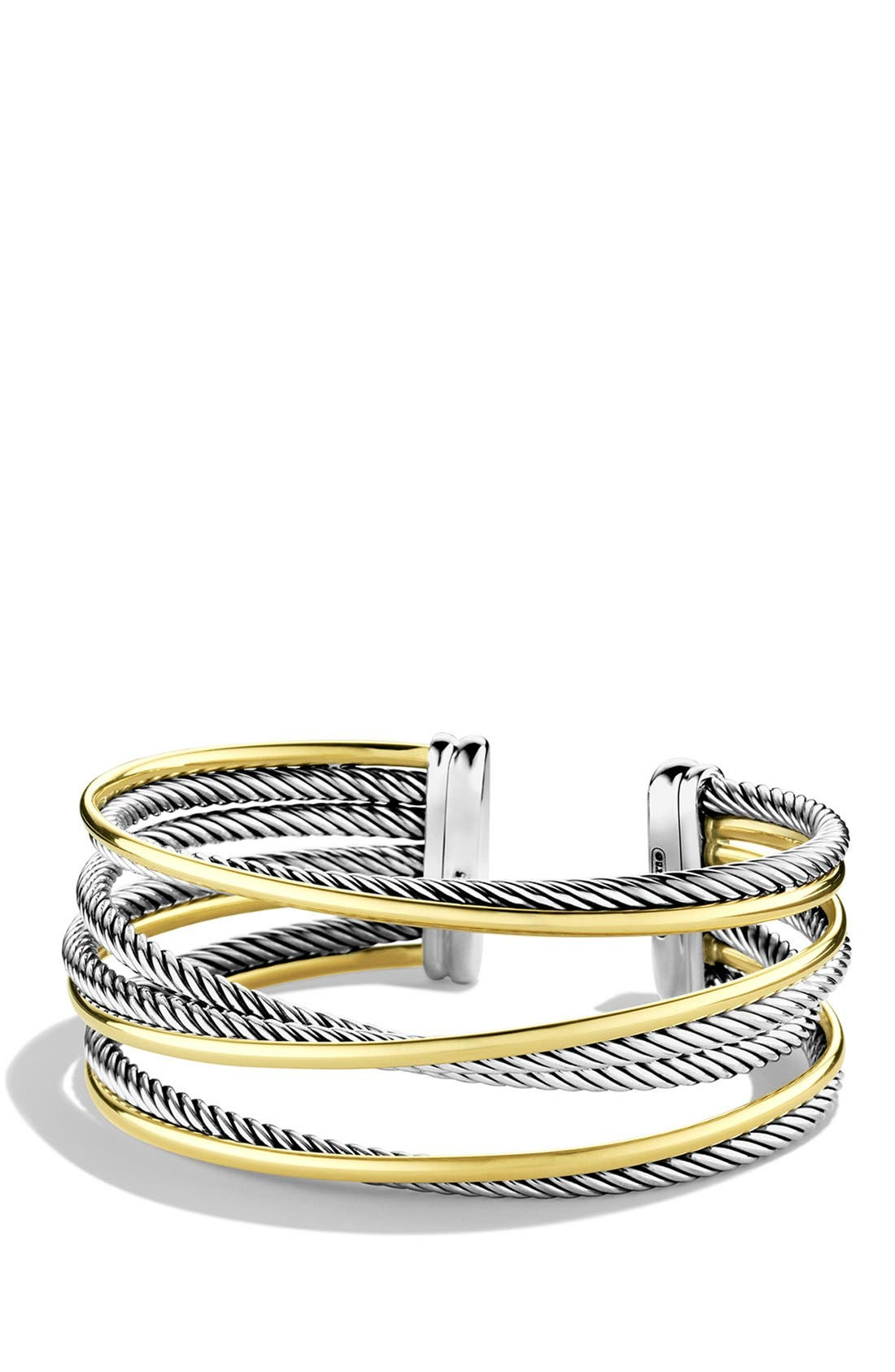 DAVID YURMAN Crossover Four-Row Cuff with Gold