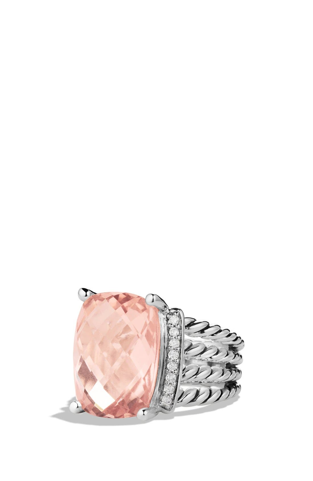 Alternate Image 1 Selected - David Yurman 'Wheaton' Ring with Semiprecious Stone & Diamonds