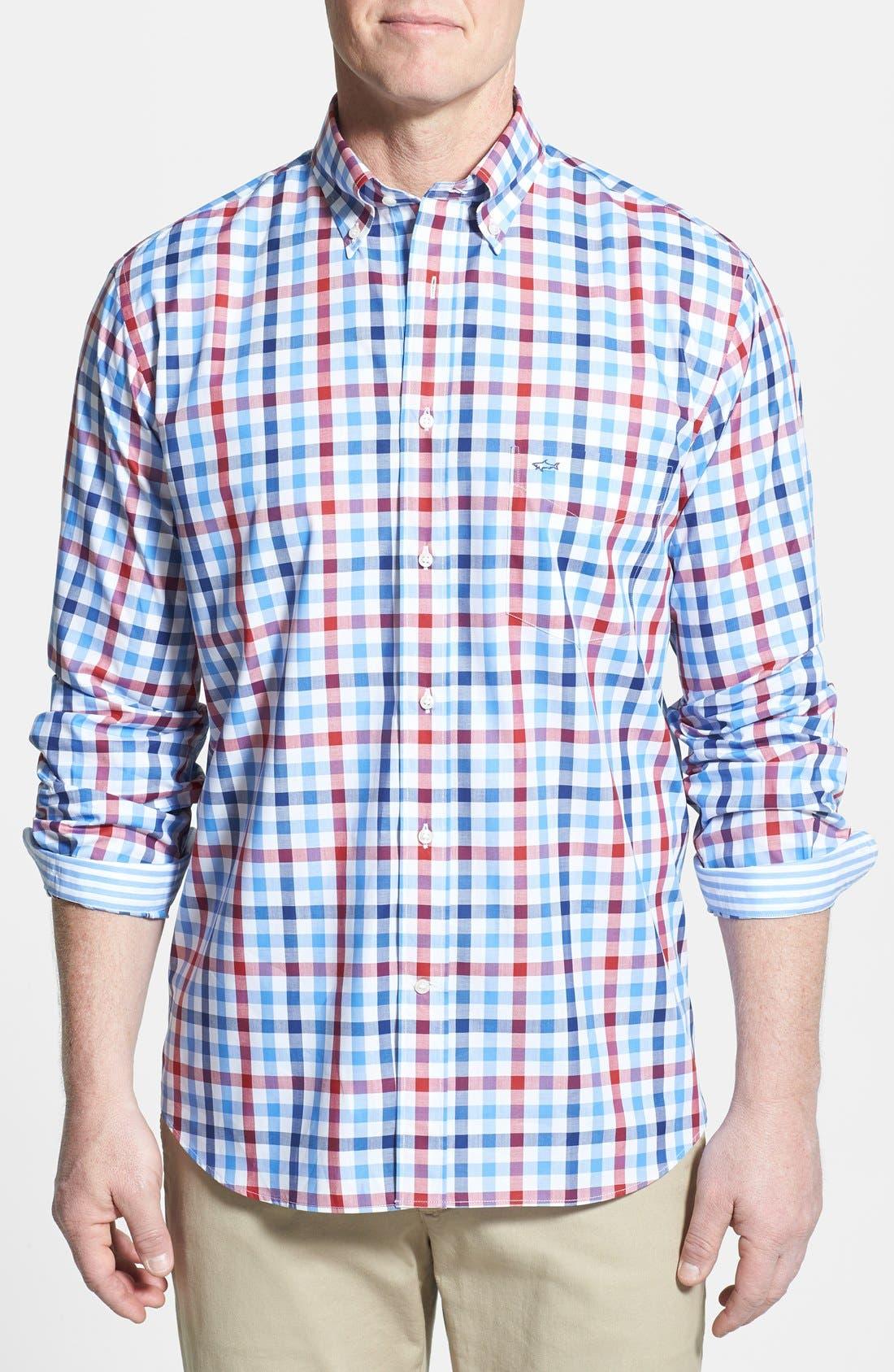 Alternate Image 1 Selected - Paul & Shark Classic Fit Gingham Sport Shirt