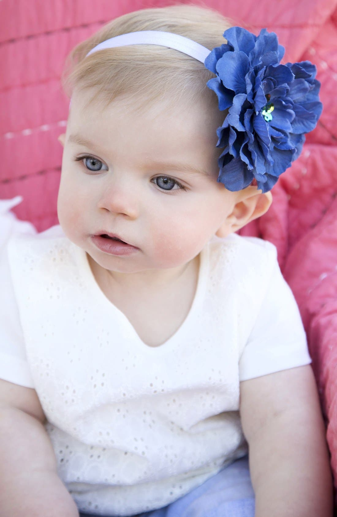 Alternate Image 1 Selected - PLH Bows & Laces Flower Headband (Baby Girls & Toddler Girls)