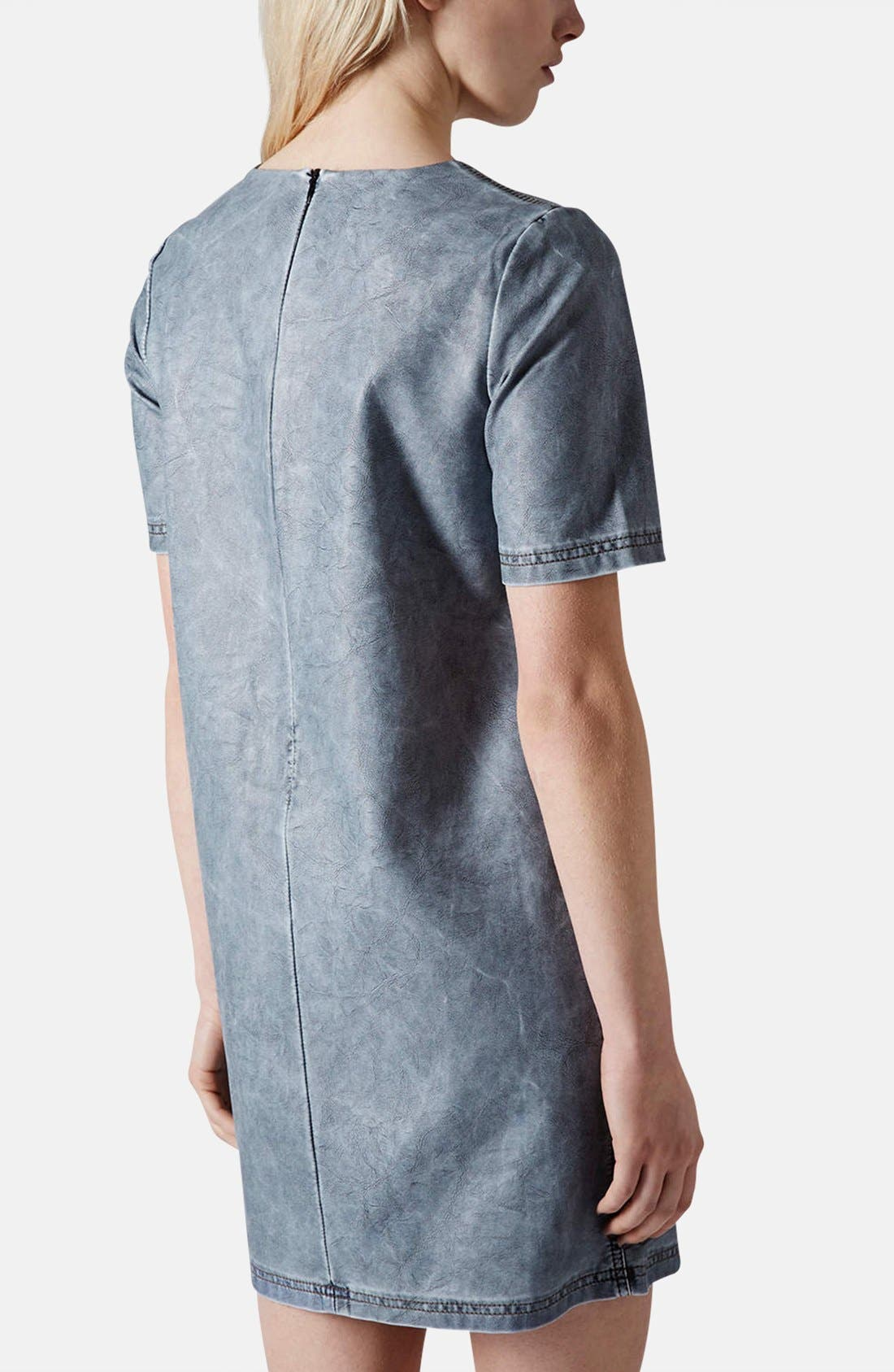 Alternate Image 2  - Topshop 'Daloma' Faux Leather Shift Dress