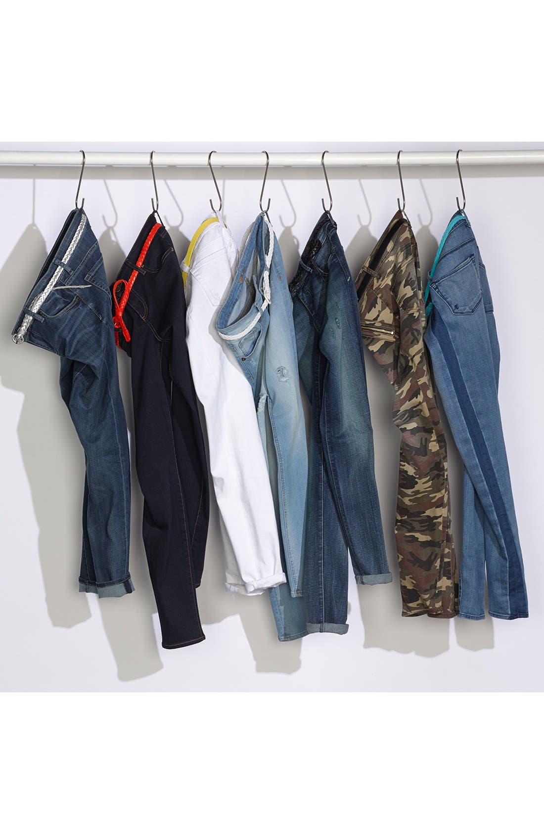 Alternate Image 4  - KUT from the Kloth 'Mia' Camo Skinny Jeans (Olive)